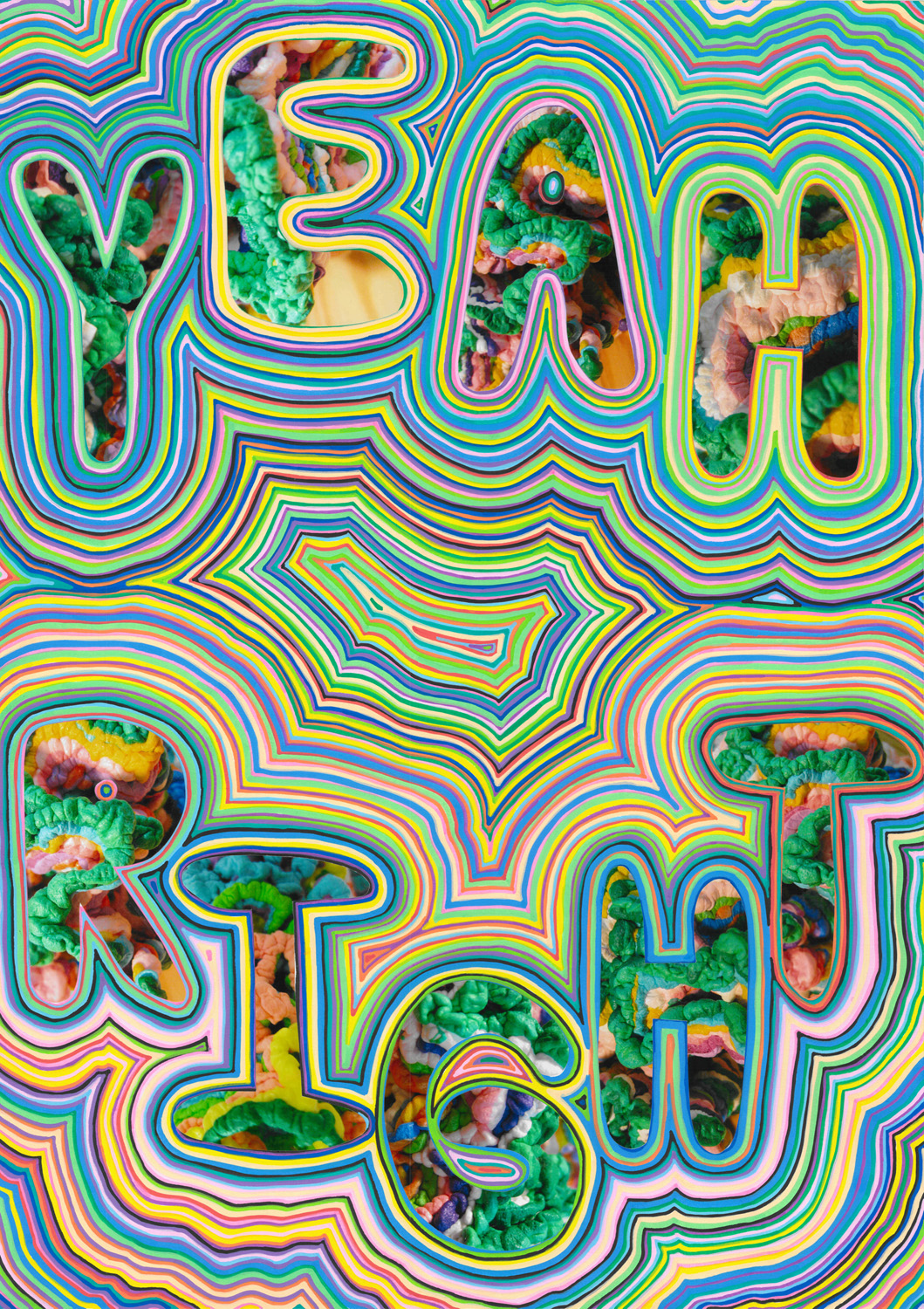 Yeah Right (2012), photo and acrylic on paper, 59.4 x 42 cm