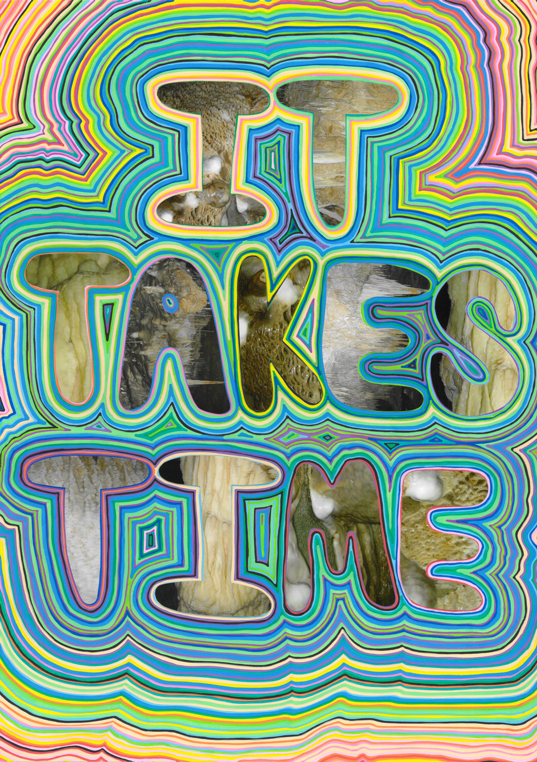 It Takes Time (2012), photo and acrylic on paper, 59.4 x 42cm
