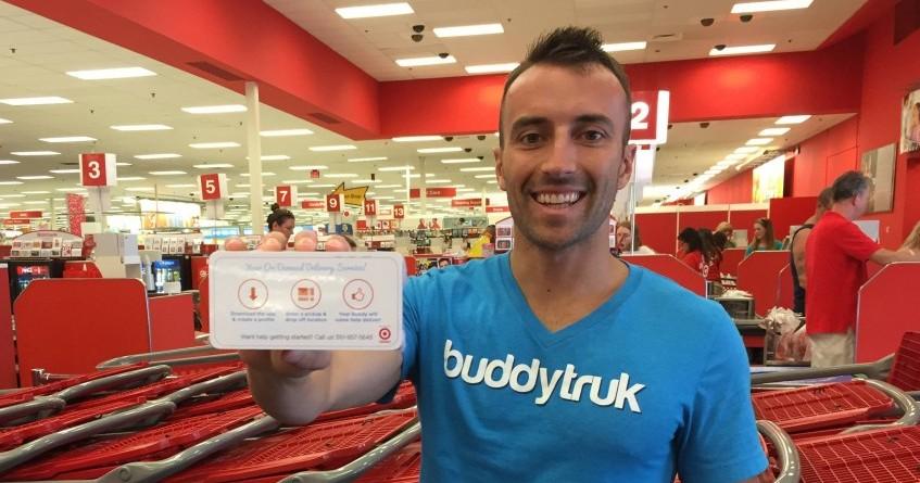 Buddytruk CEO,  Brian Foley  at Target. Photo by Buddytruk Co-Founder,  Tim Kolenut .