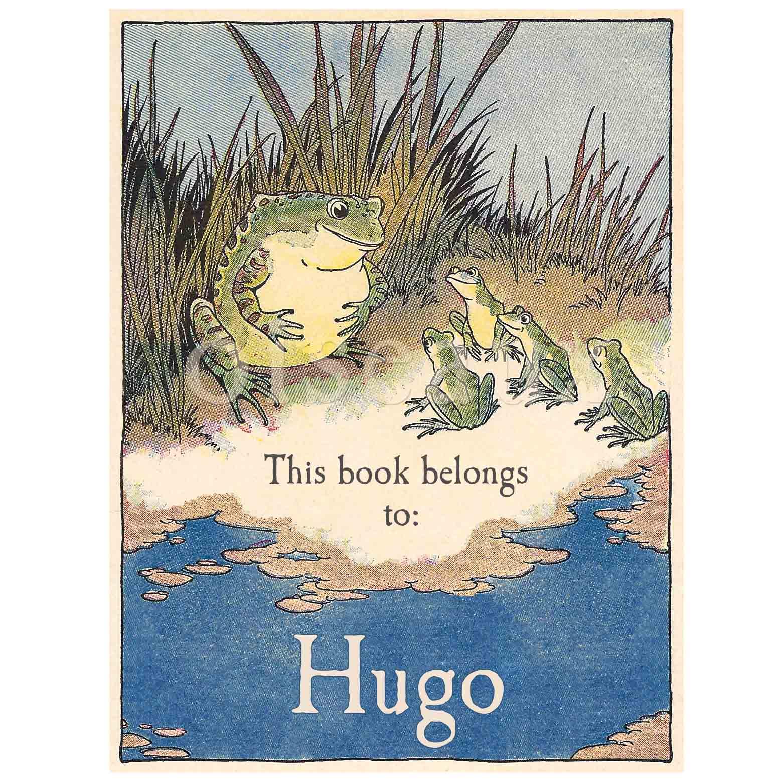 Vintage Frogs Bookplates