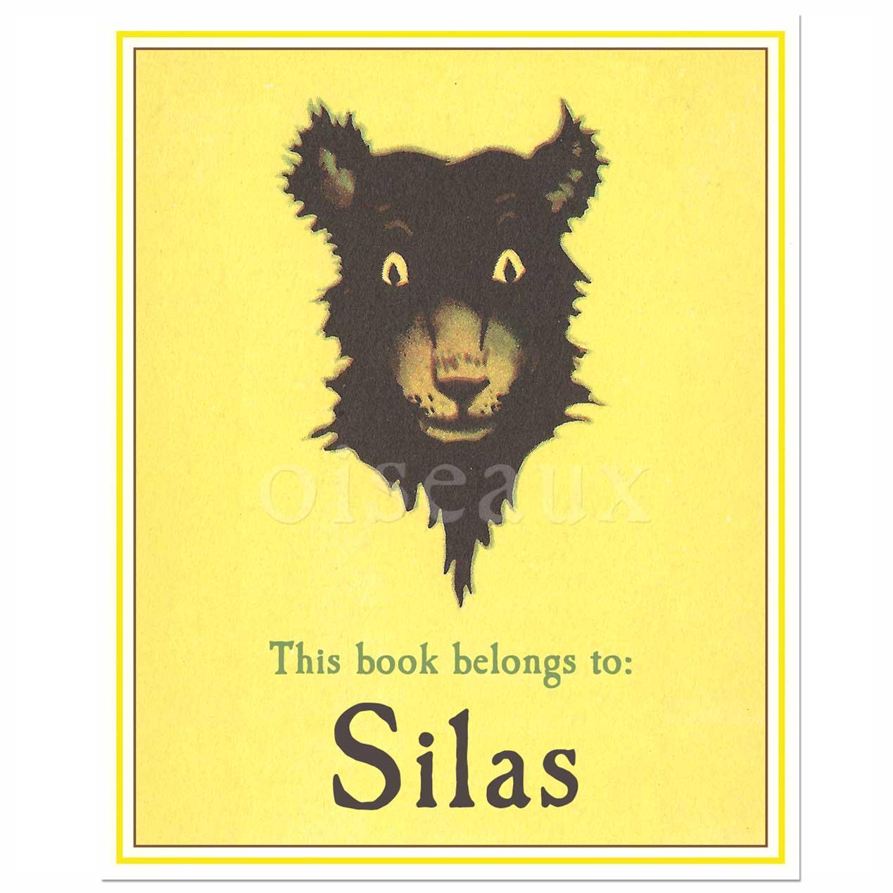 Vintage Bear bookplates