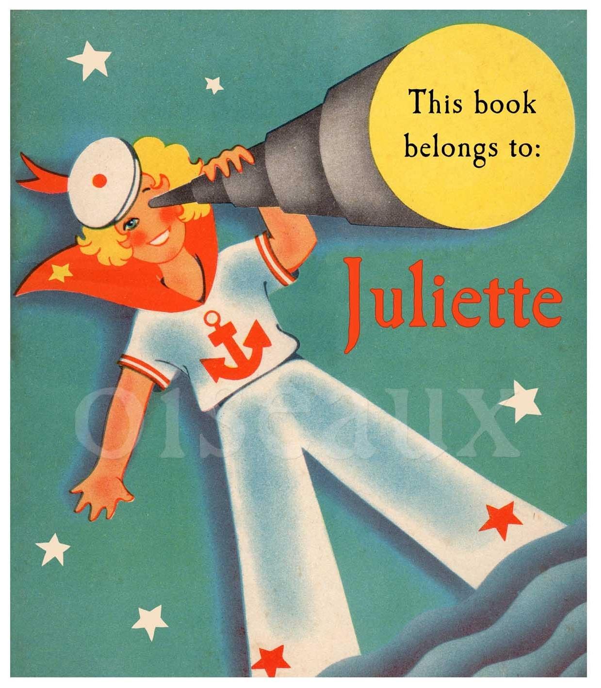 Sailor Girl bookplates