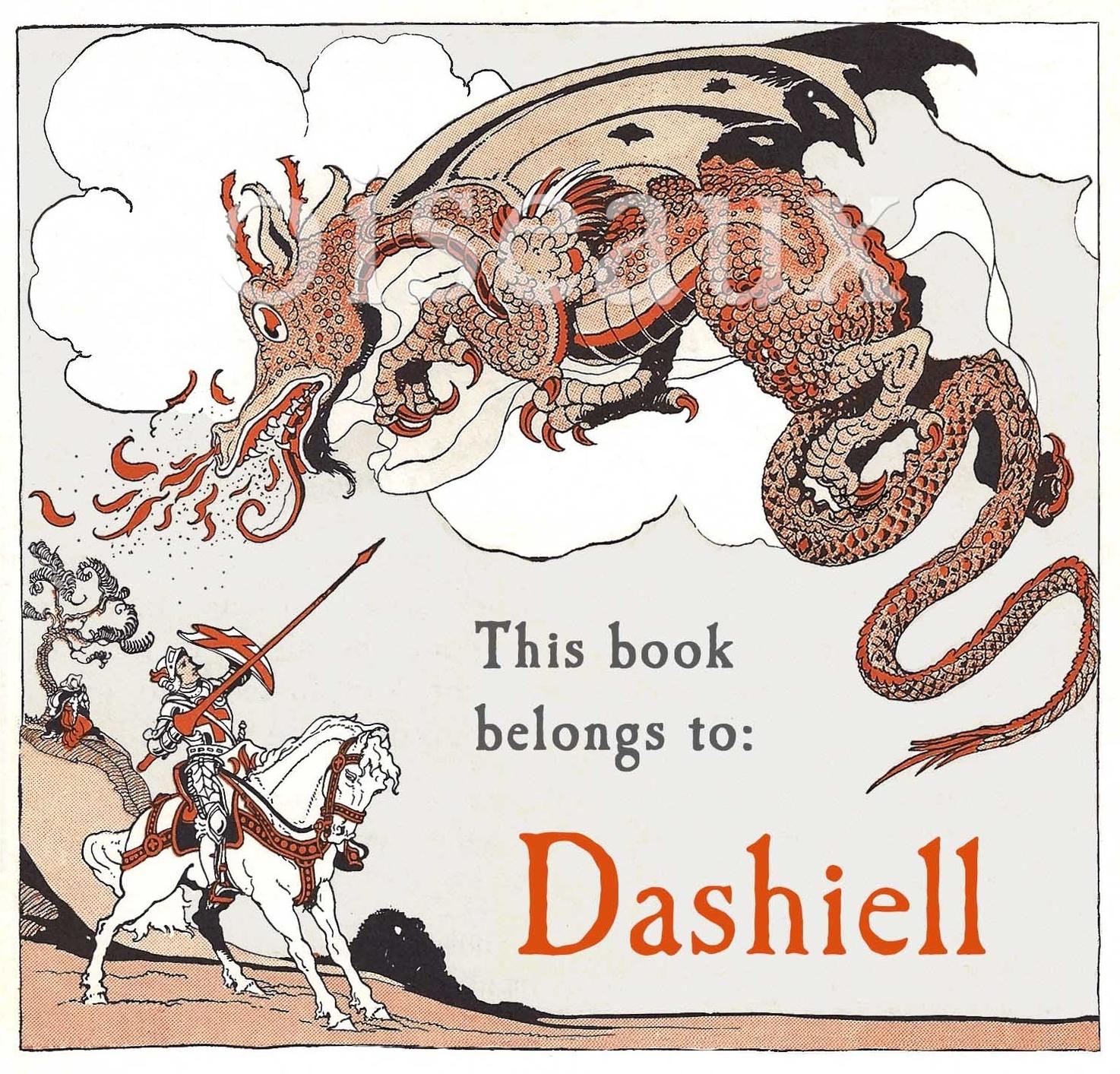 Vintage Dragon Bookplates