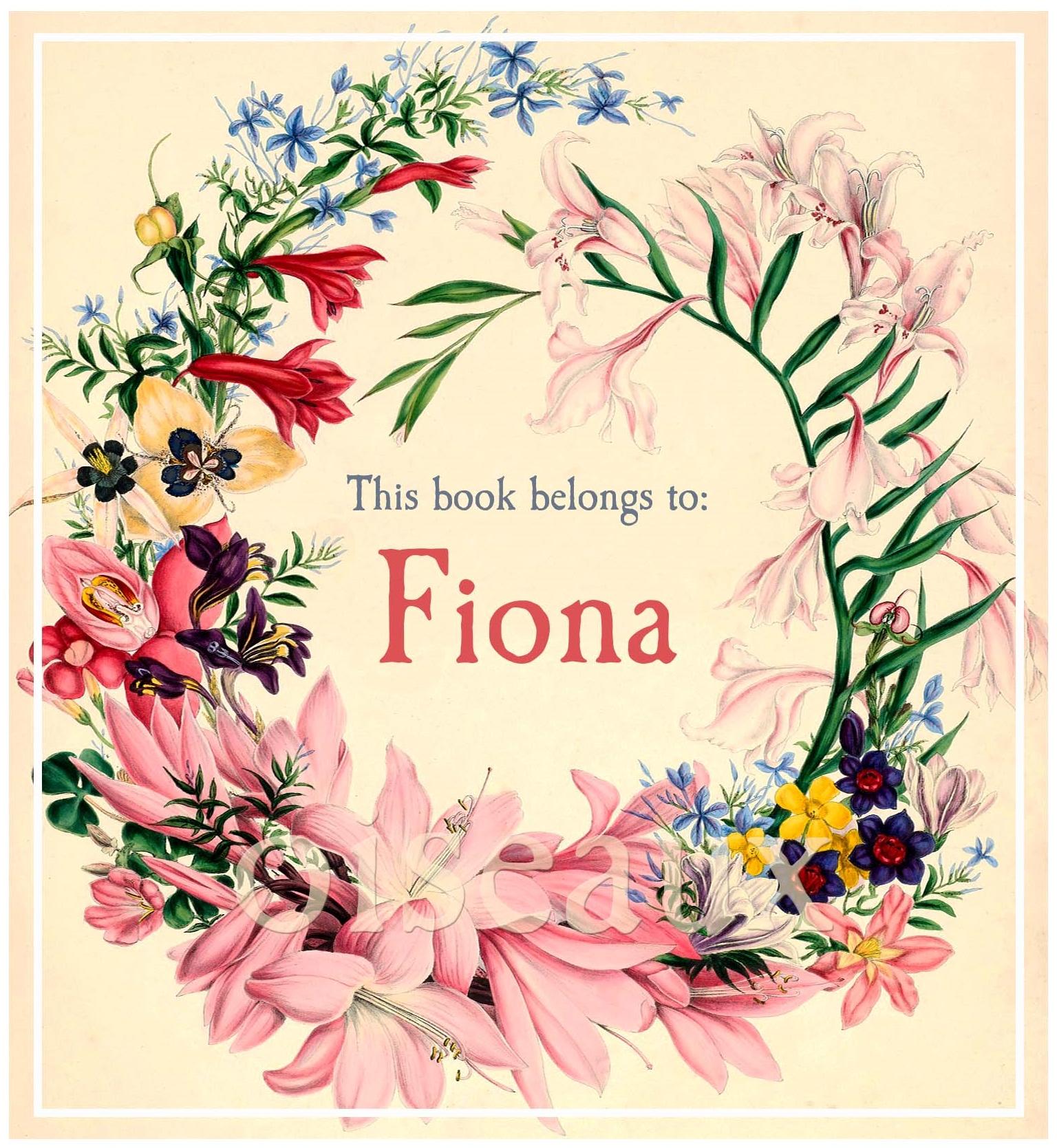 Vintage Flower Crown Bookplates
