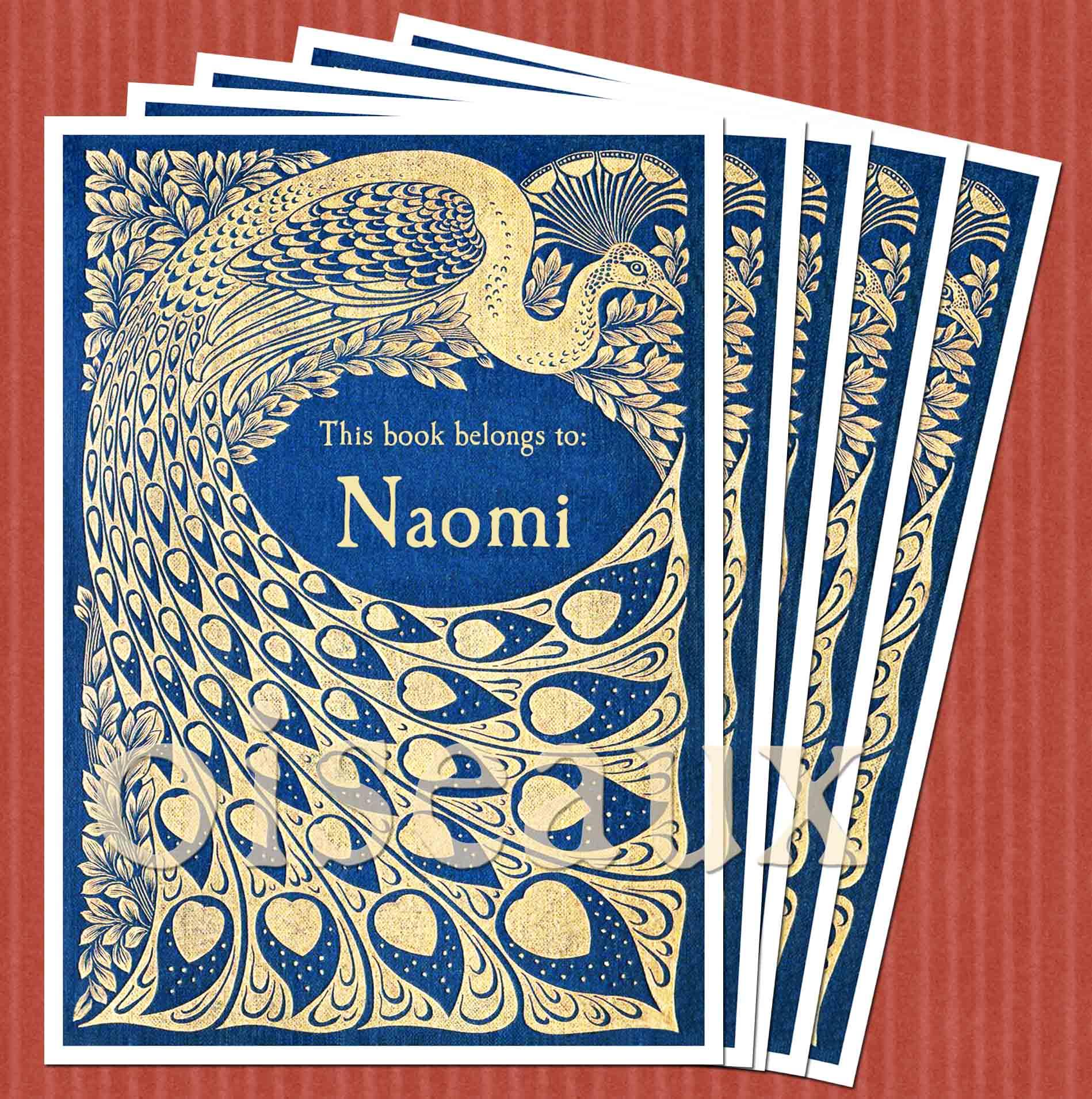 Peacock Vintage Bookplates