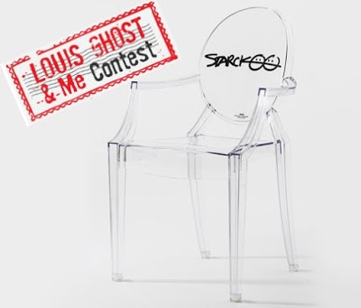 Louis Ghost Special Edition 10th Anniversary chair laser-engraved with Starck's signature