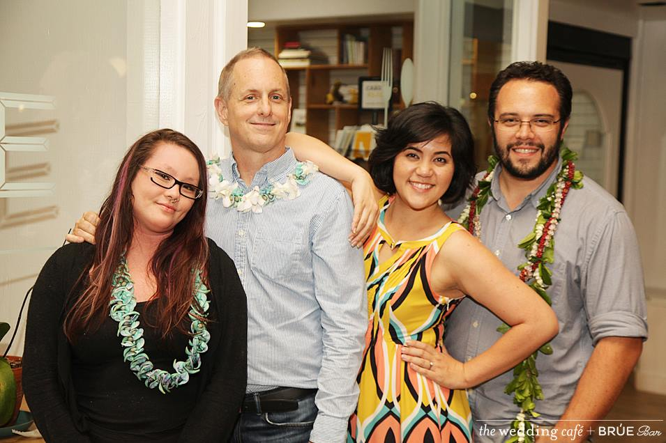 Left to Right:Courtney and Matt from Brue Bar & Lauren and Luke from TWC. Photo byMichael McDermott of Vivir Photography.