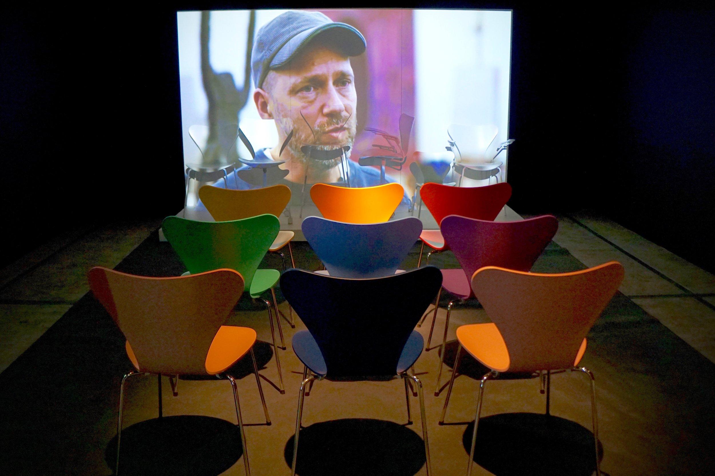 The 7 Chair Installation - originally shown at the Fritz Hansen Showroom, Milan, 2015