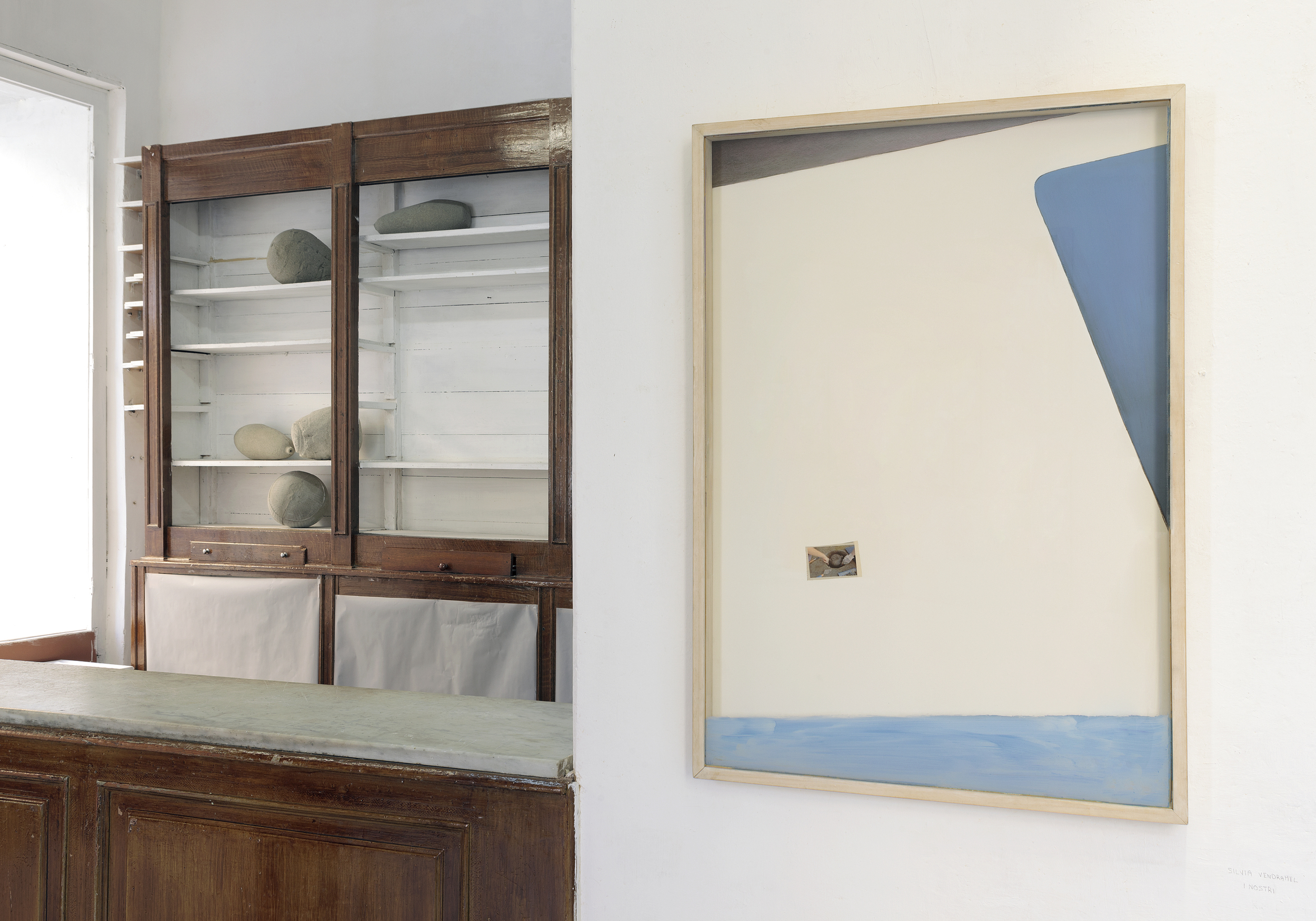 Visione parziale dell'esposizione  Dedans , a cura di Matteo Innocenti, Galleria Nicola Ricci