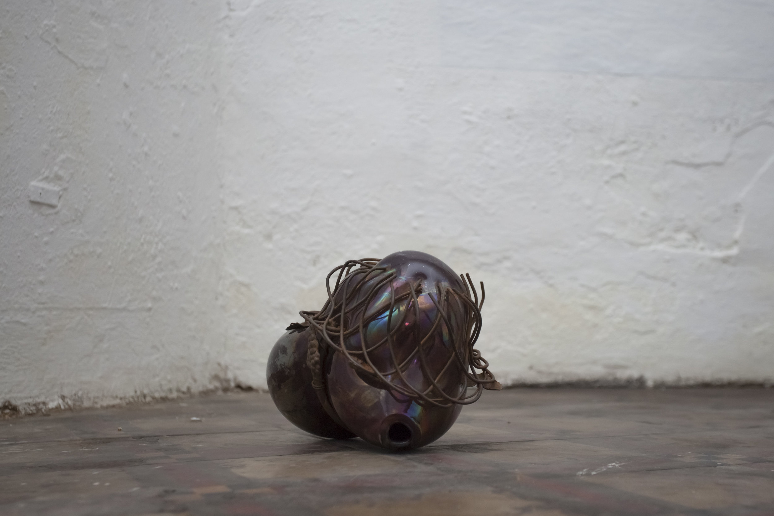 Soffio#2  2013 - Vetro soffiato e metallo - cm25x17x18