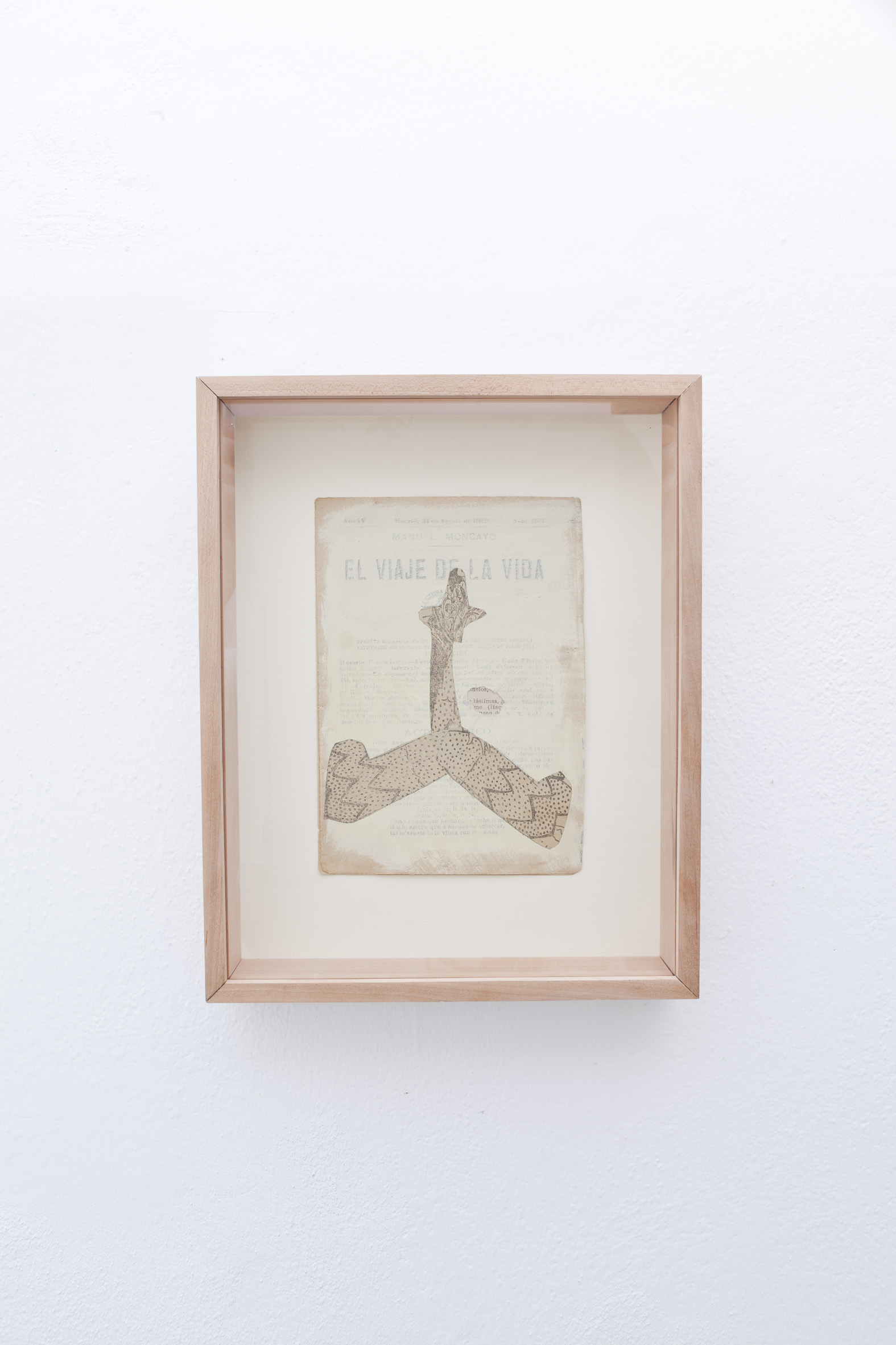 S. Vendramel,  El viaje,  2018 - Collage e pittura su carta - cm 18x13
