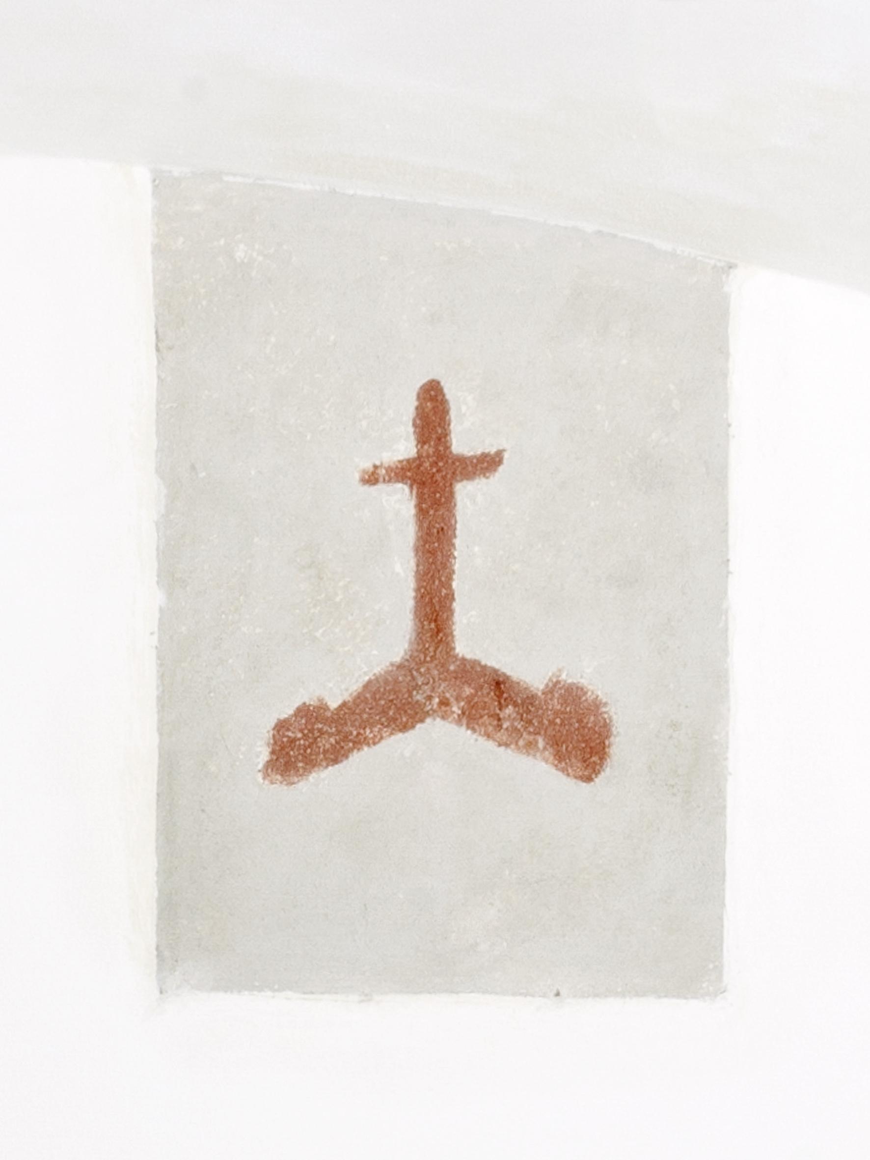 Frammento di affresco presso la galleria Passaggi Arte Contemporanea, cm 45x30