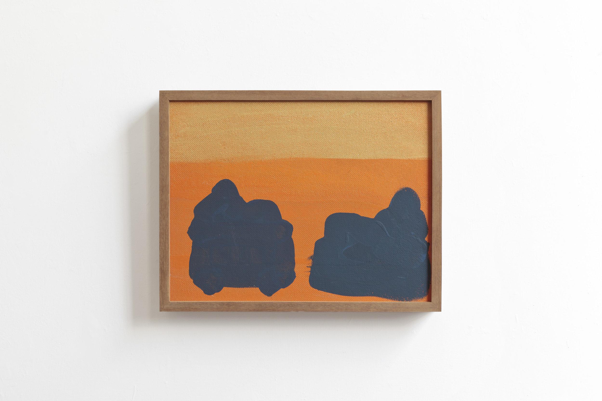 Couple  2017 - painting on wood - cm 41x32x5
