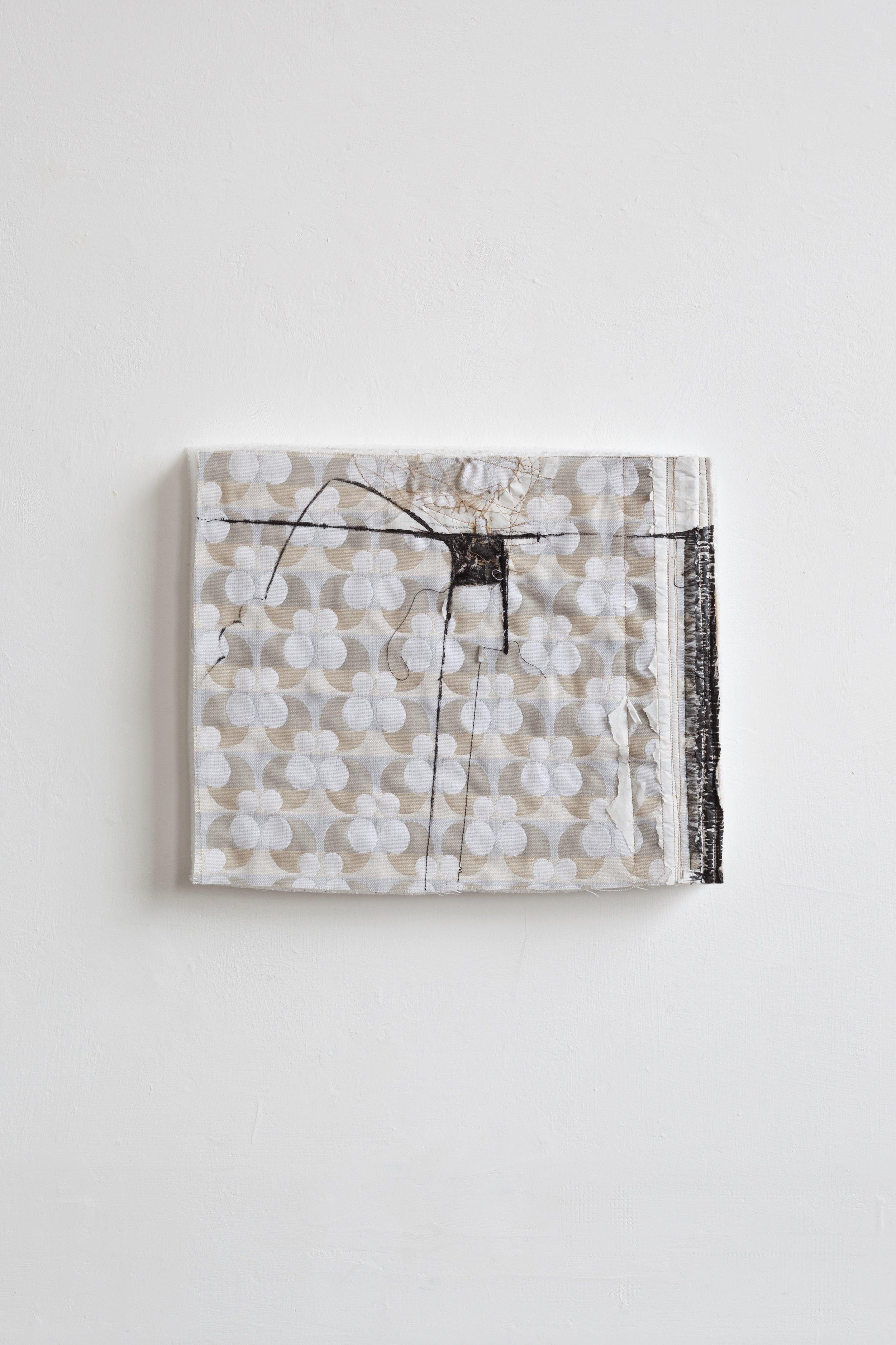 Do, undo, redo - fabric drawing #22 , 2017/19 - tecnica mista su tessuto e gomma spuma - cm 27x33x4