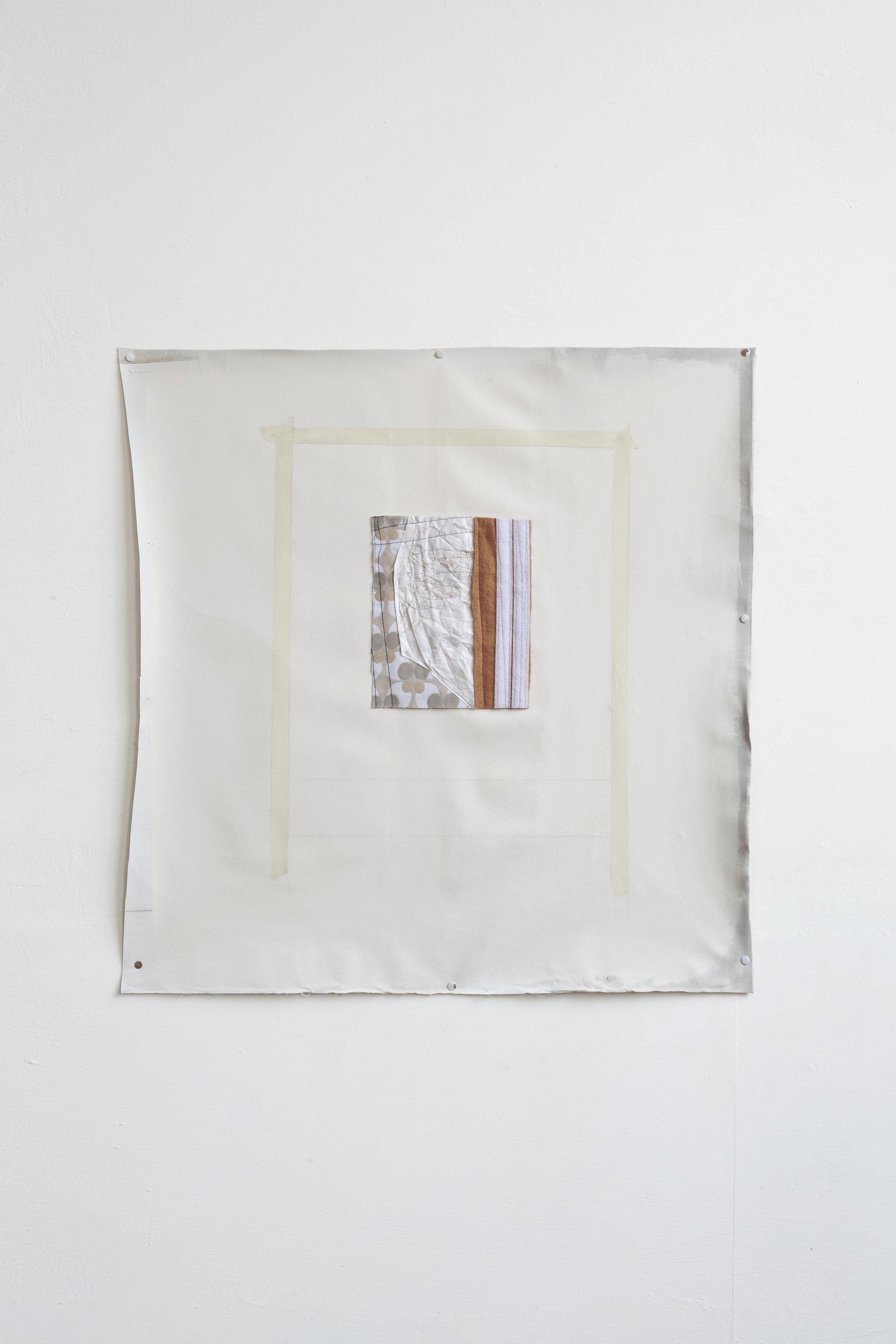 Do, undo, redo – fabric drawing #25  2017/19 - acrilico su tela e tecnica mista su tessuto - cm 77x74  Foto Nicola Belluzzi