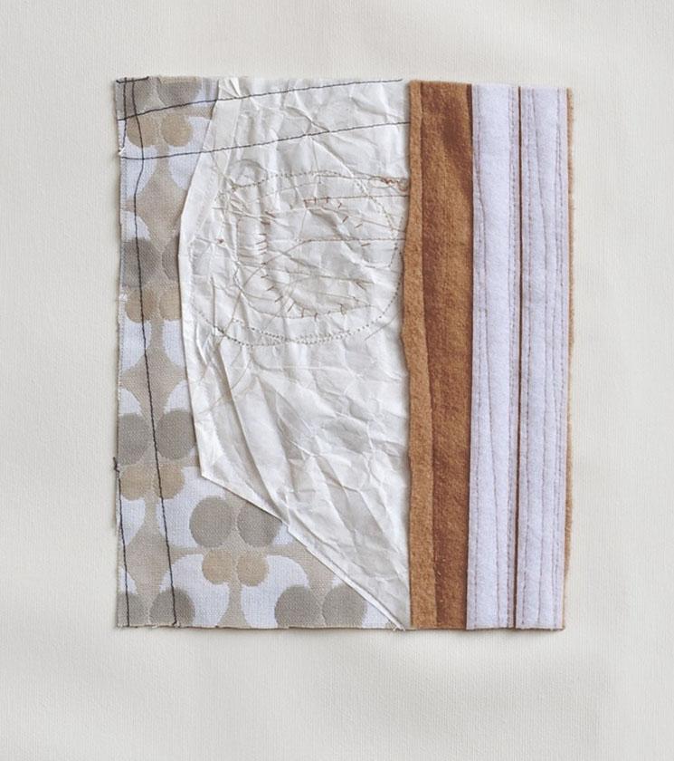 Do, undo, redo – fabric drawing #25  (particolare)   2017/19 - acrilico su tela e tecnica mista su tessuto - cm 77x74