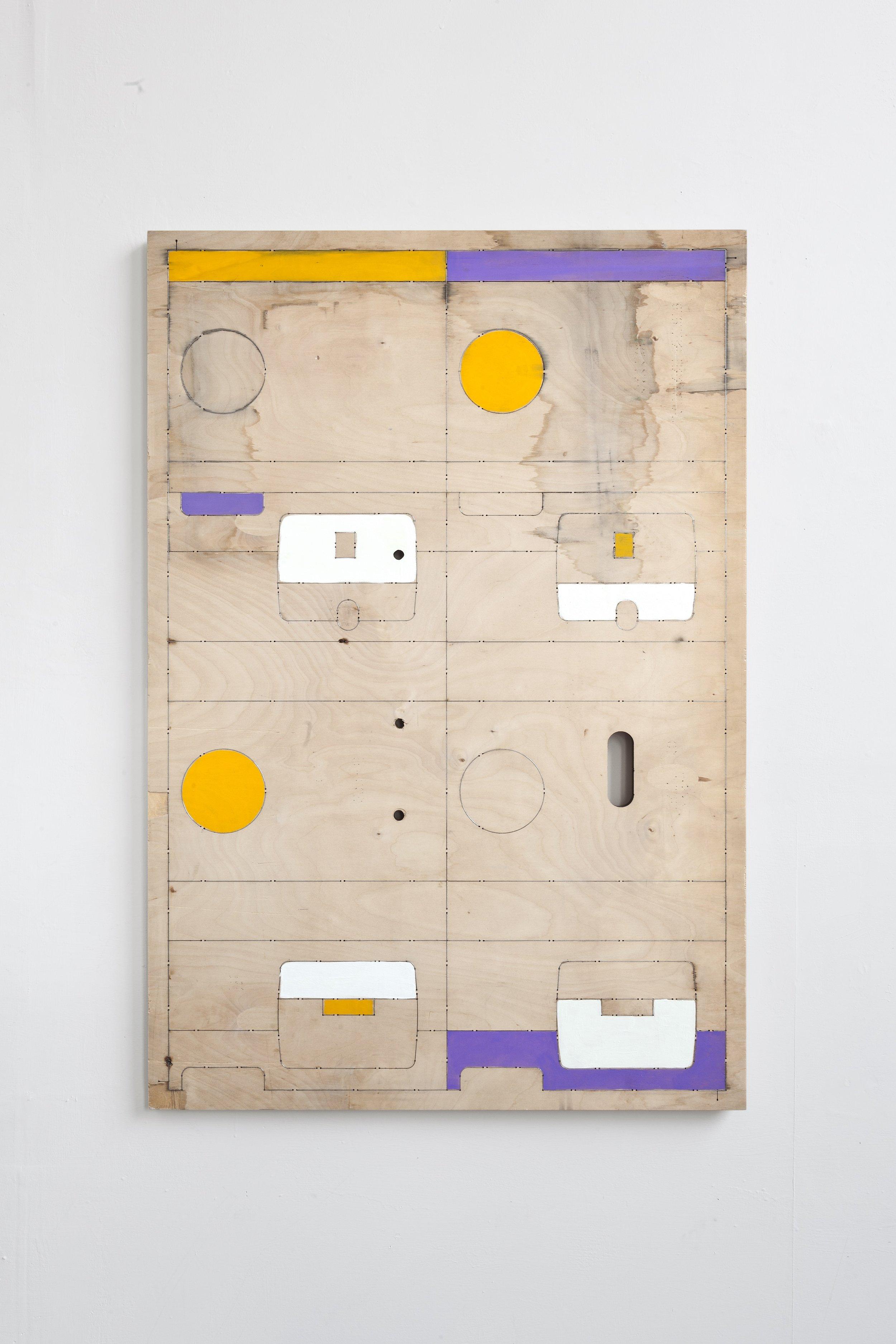La Torre#/Mr.Hulot  2019 - acrilico su fustella in multistrato di legno - cm 106x74x3