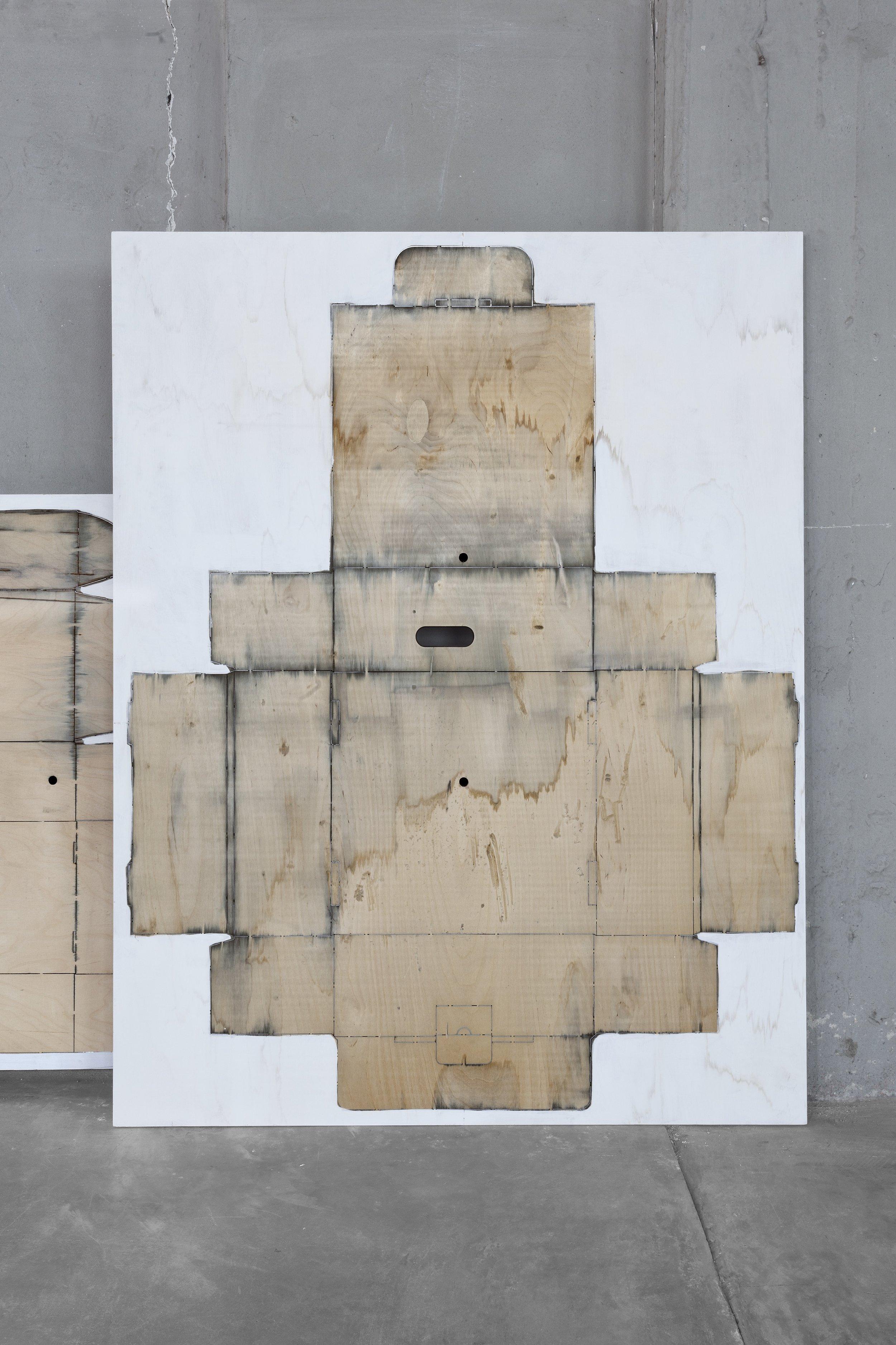 La Torre #34  2019 - acrilico su fustella in multistrato di legno  cm 124x100x3