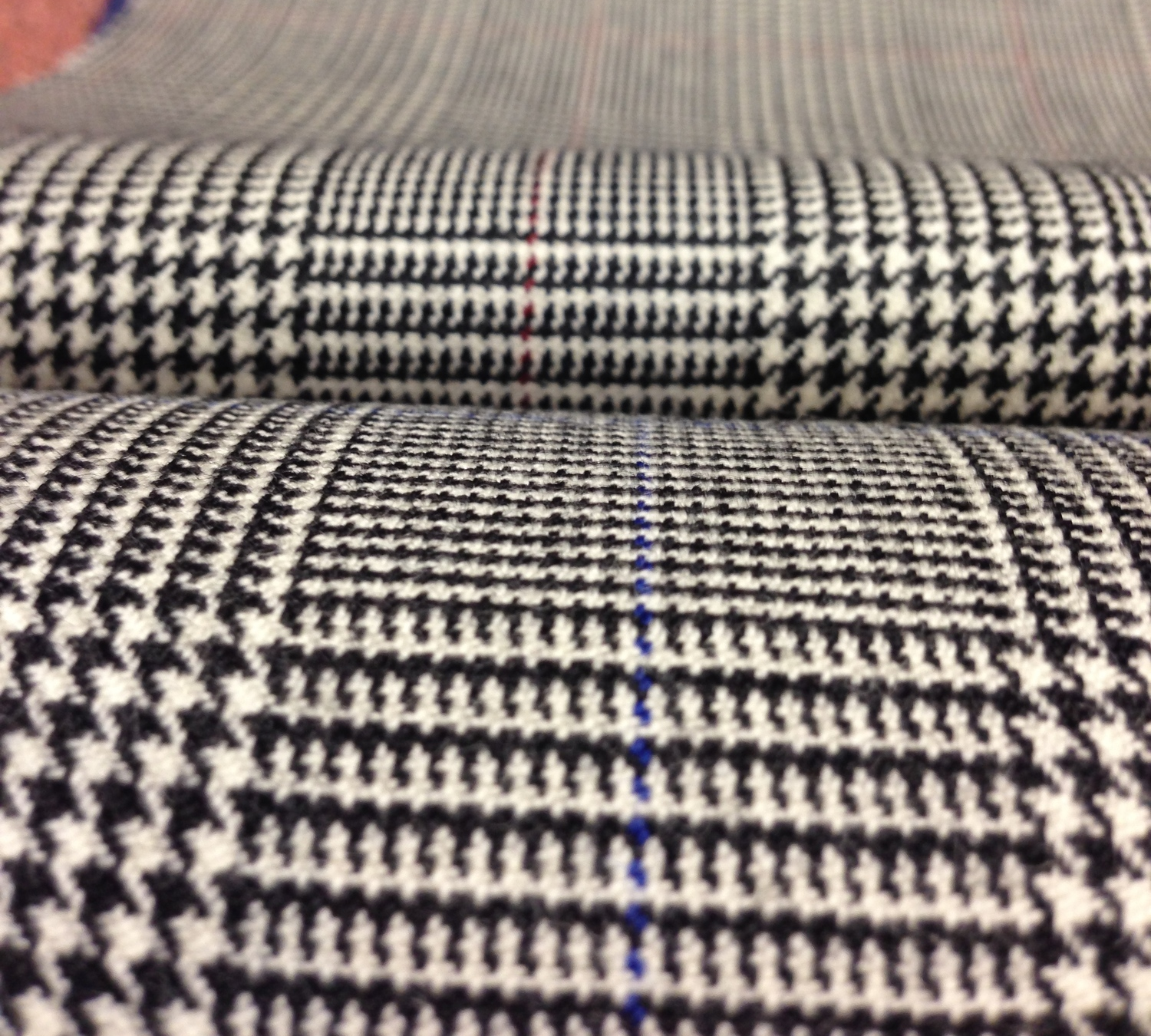 The Prince of Wales fabric - selected from the book at Copperfield tailors