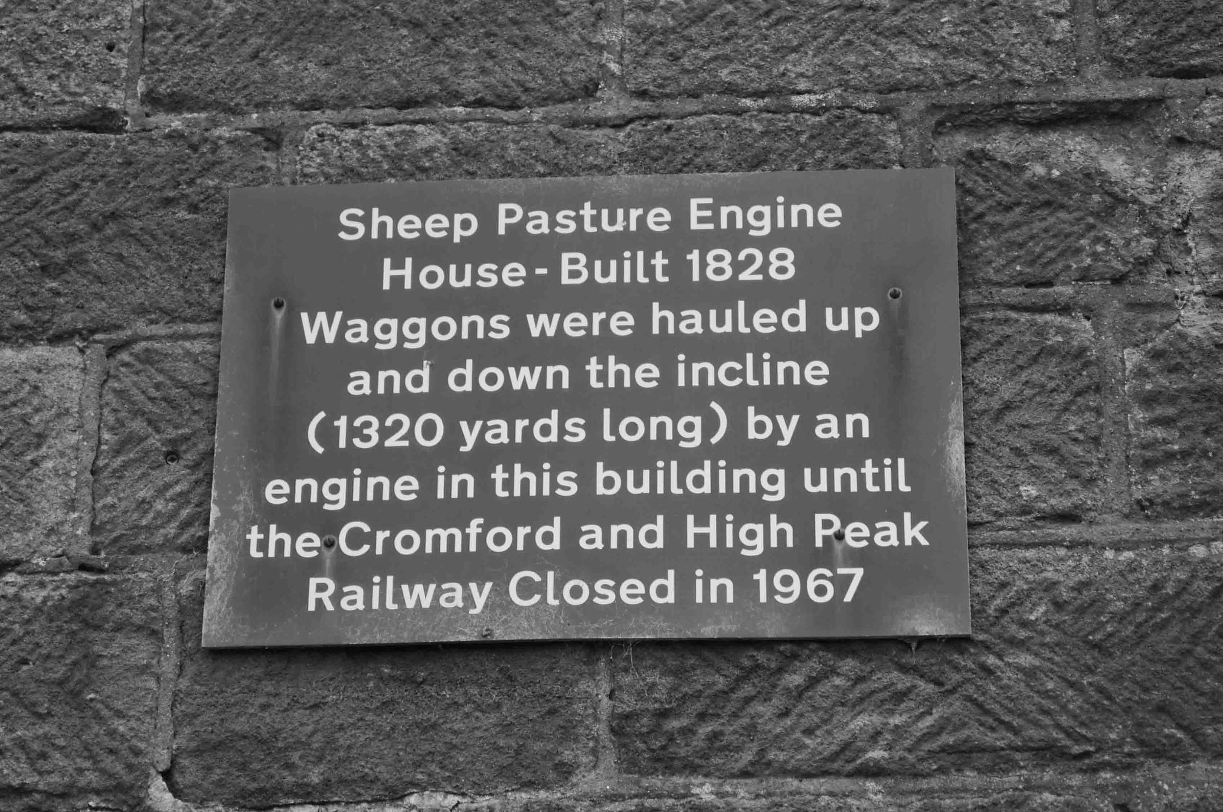 high peak trail pump house sign