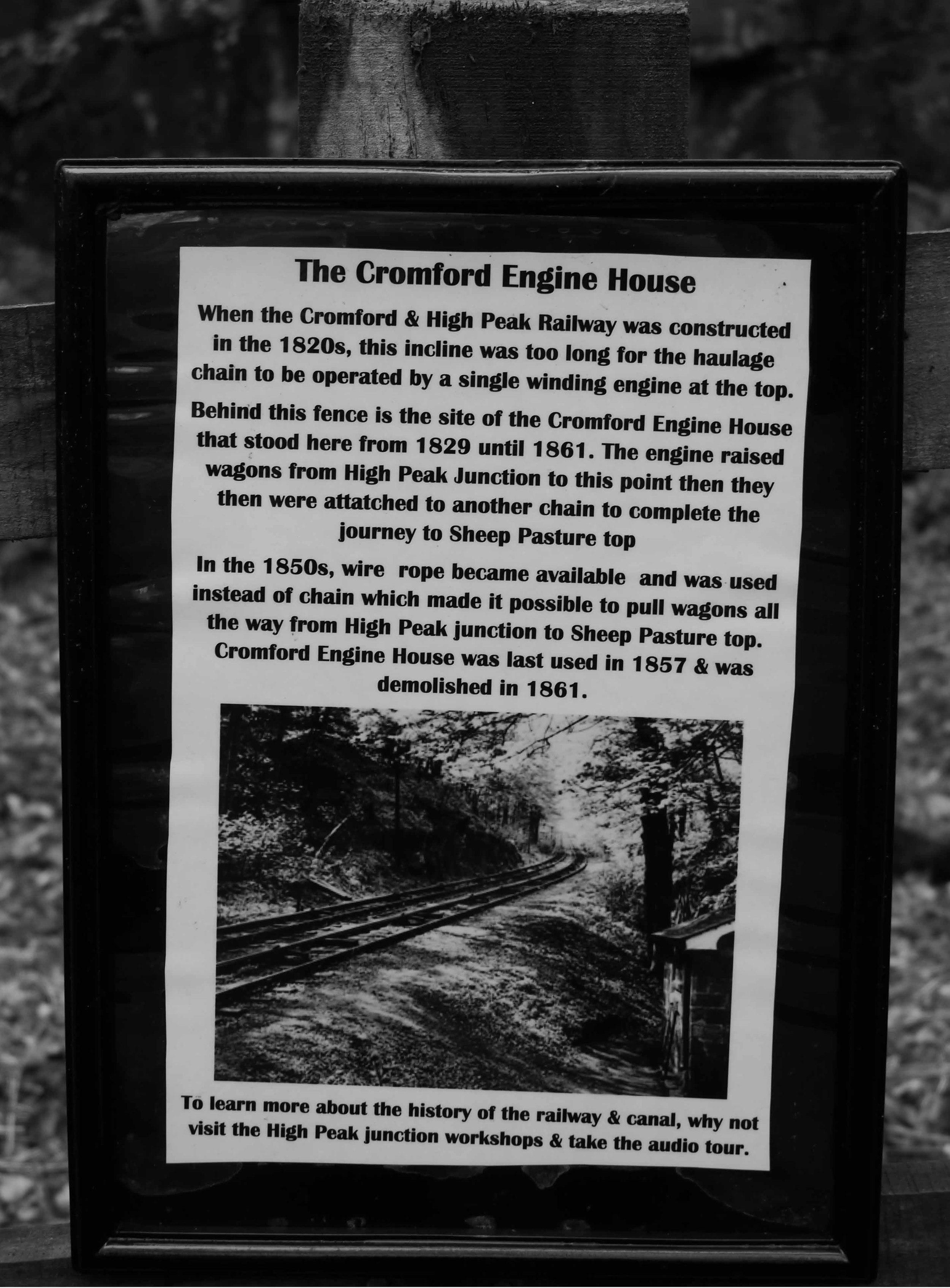 High peak trail engine shed sign