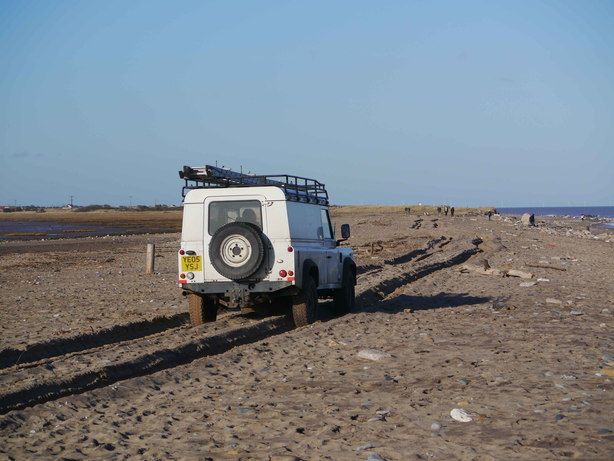 Spurn point land rover