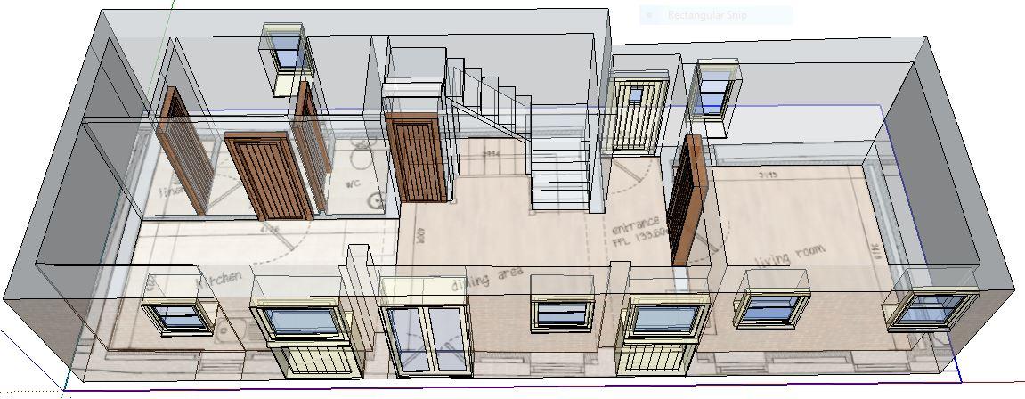 Ground floor barn 2 (diagram using Sketchup)