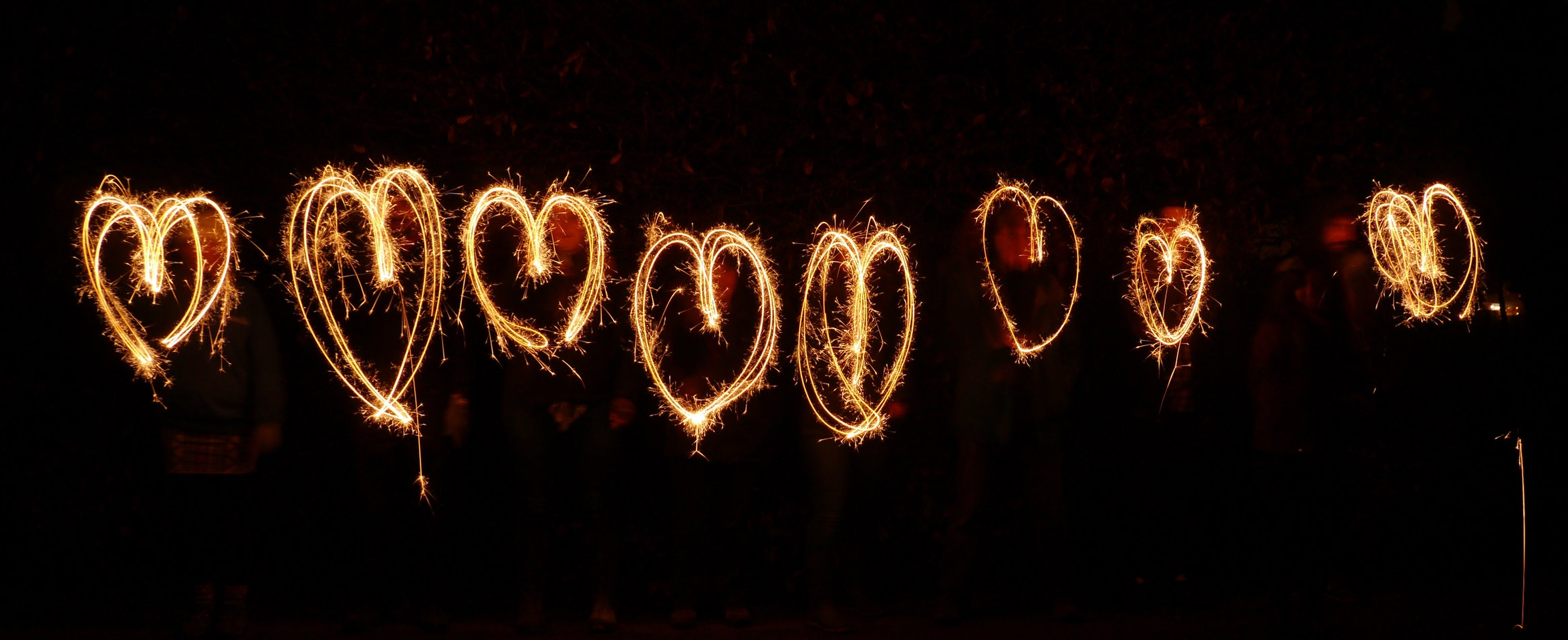 Heart y sparkler writing