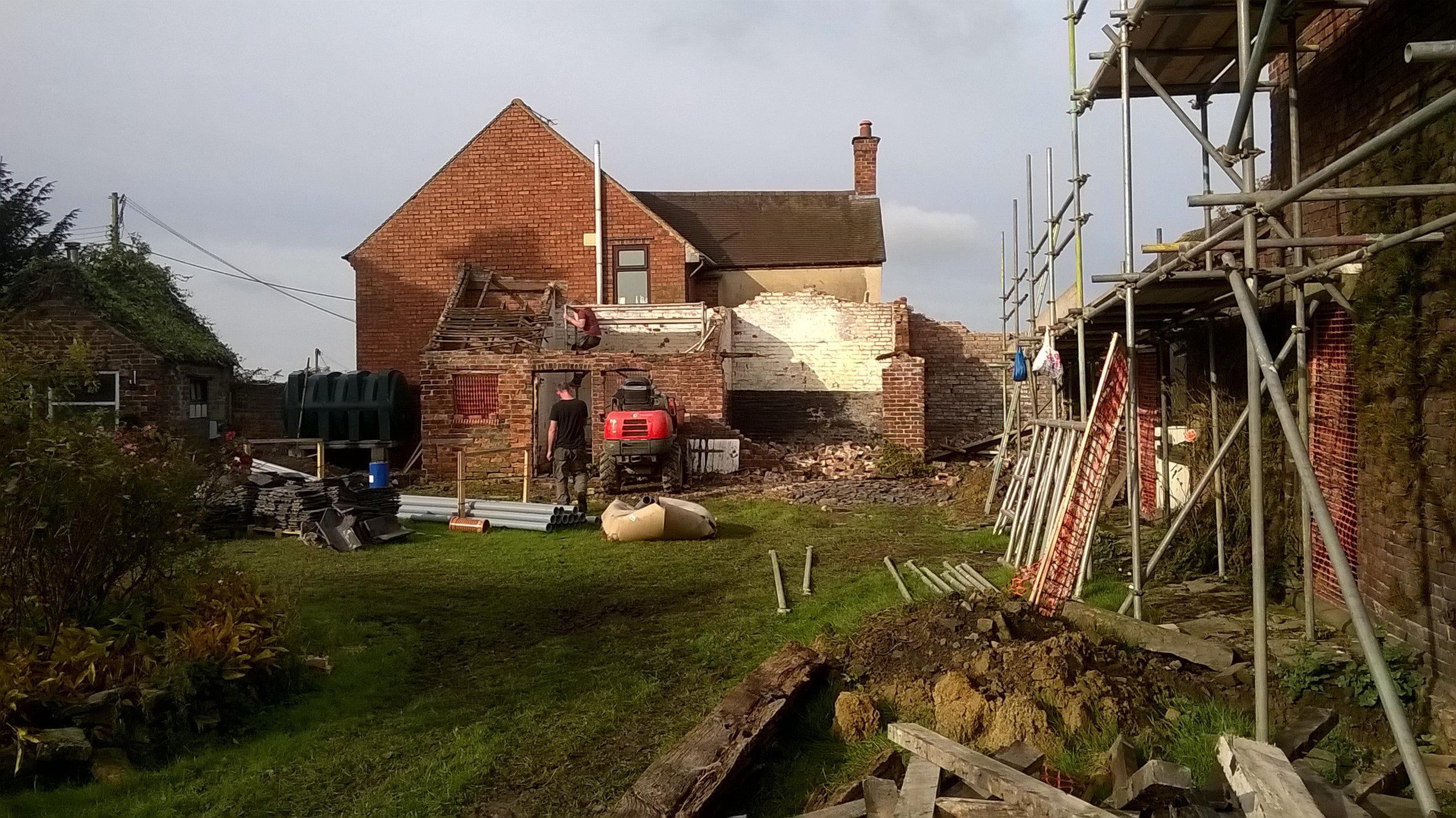 Barn 1 coming down