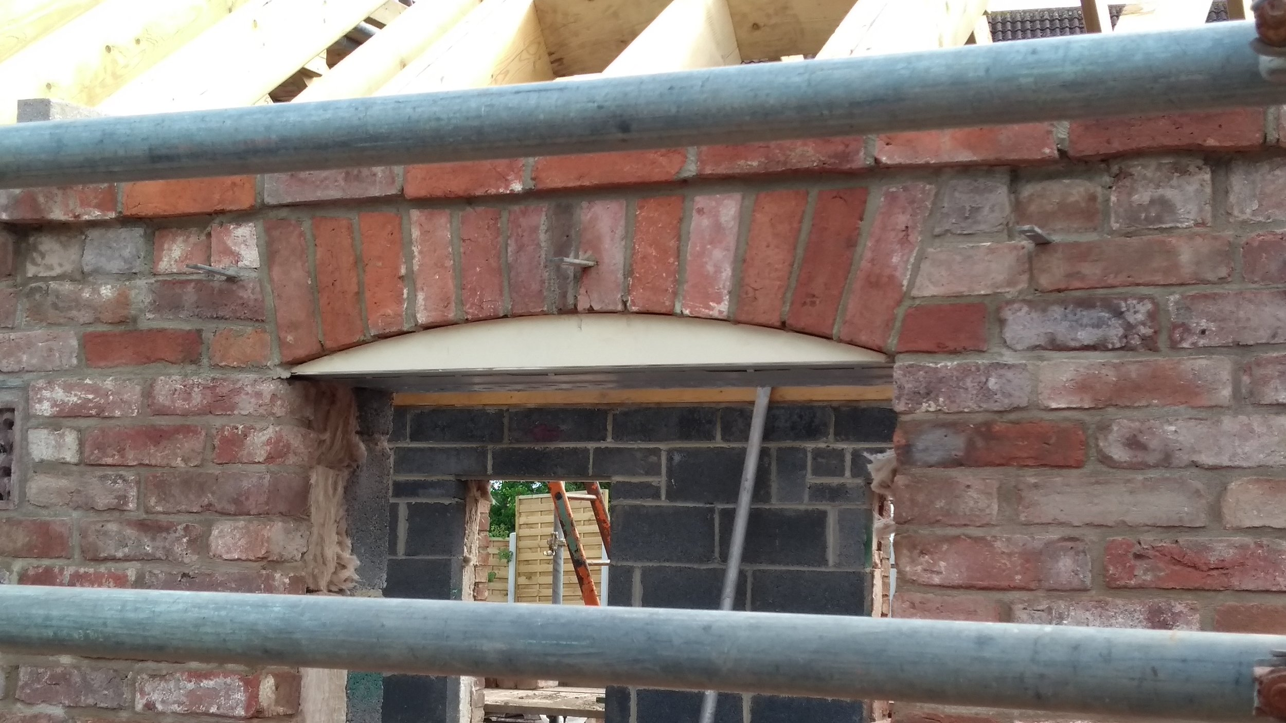 Detail of the brick arch and window cambered head (see, I even know the technical terms!)