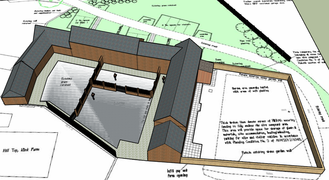 Sketchup Courtyard 1