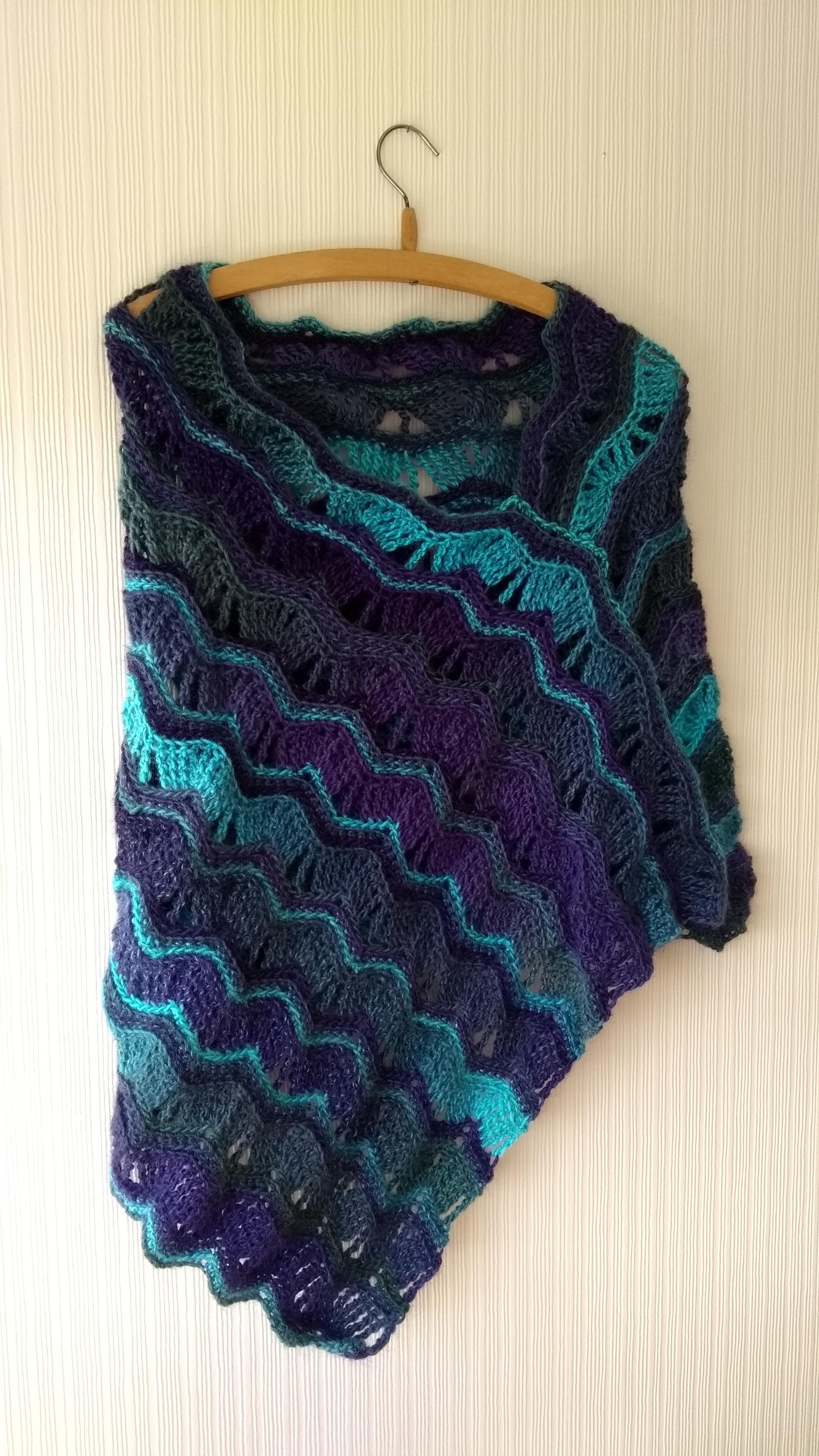 Crochet Asymmetric Poncho