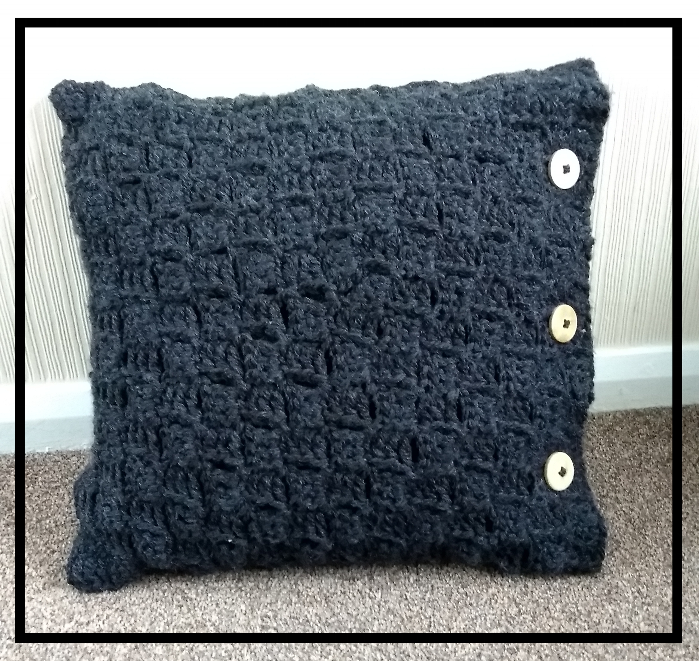 Super Chunky Crochet Cushion
