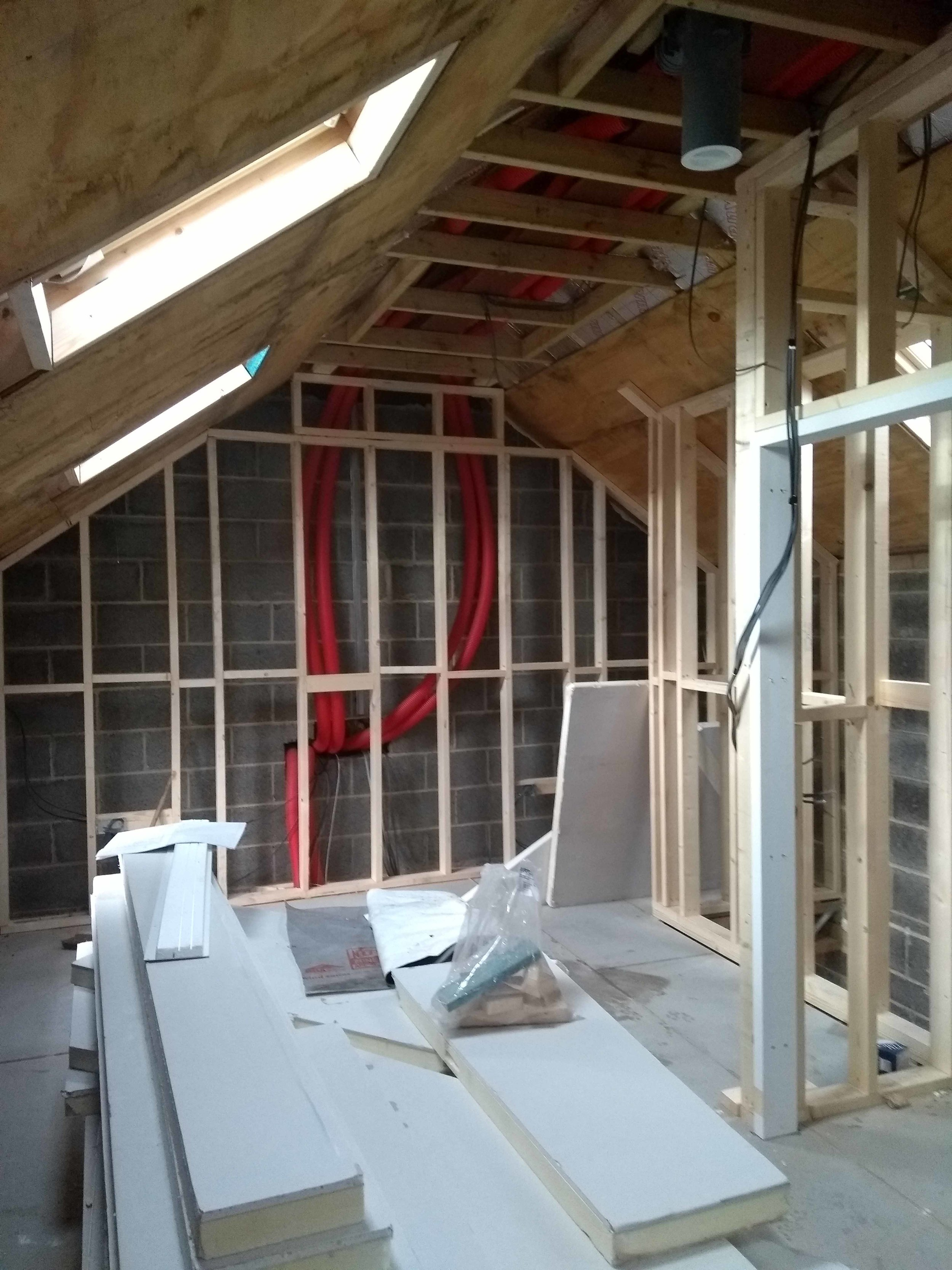 Bedroom before plaster board