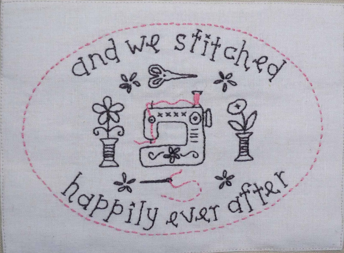 And we stitched happily ever after.....