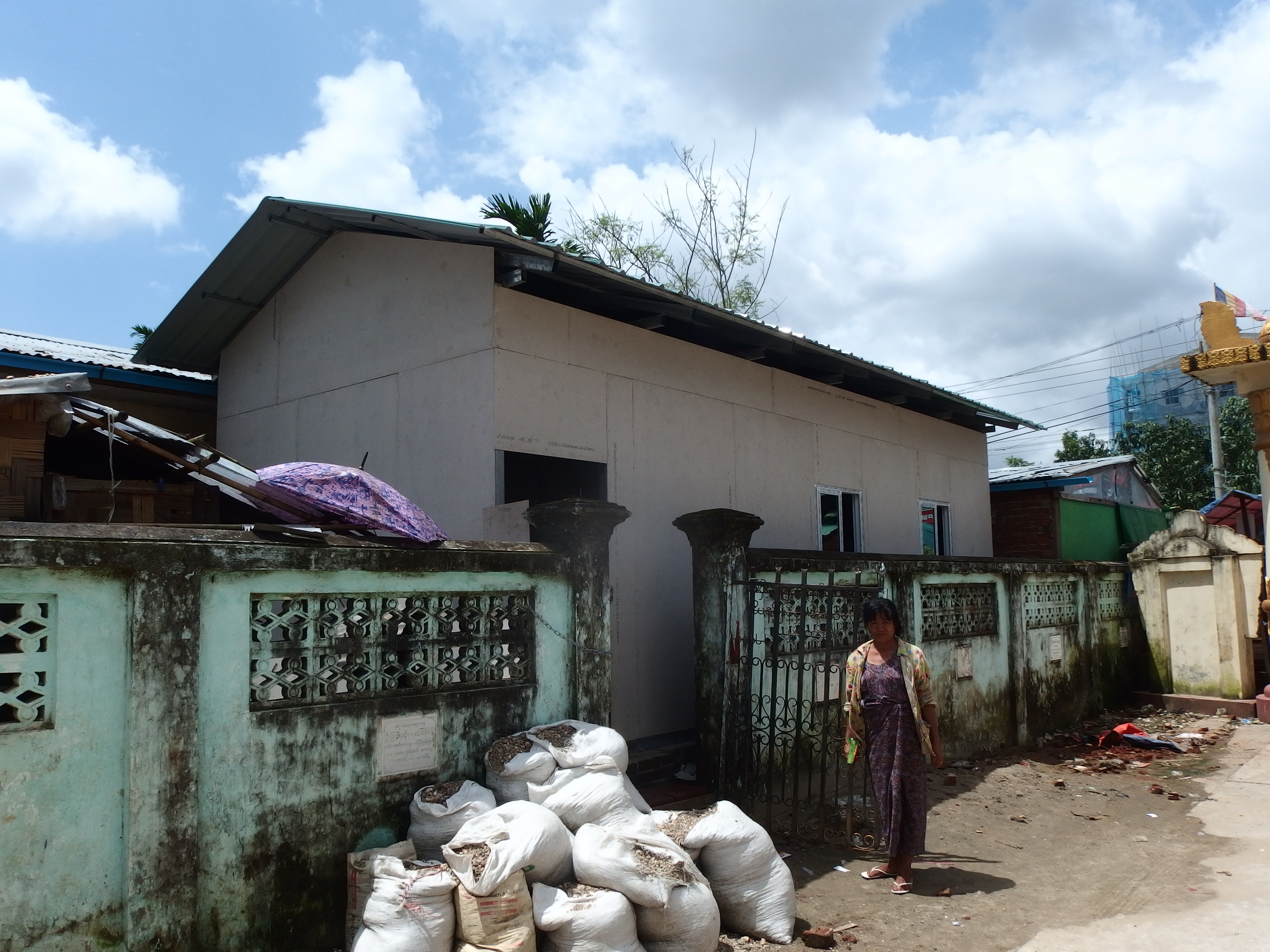 The newly constructed vocational training centre in the grounds of the Marga Monastery of Yangon