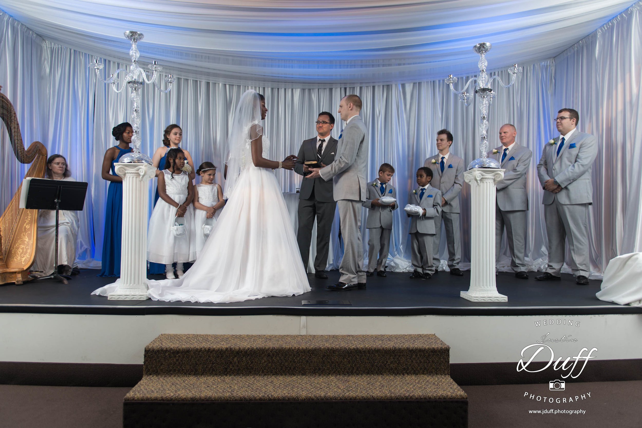 Fountains Golf Course Wedding - Royal Oak Photographer – Deanna & Shane Ceremony alter at Woodside church bride and groom exchanging vows