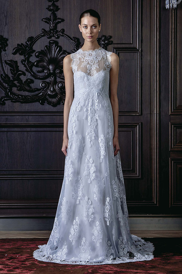 Monique Lhuillier Bleu Gown