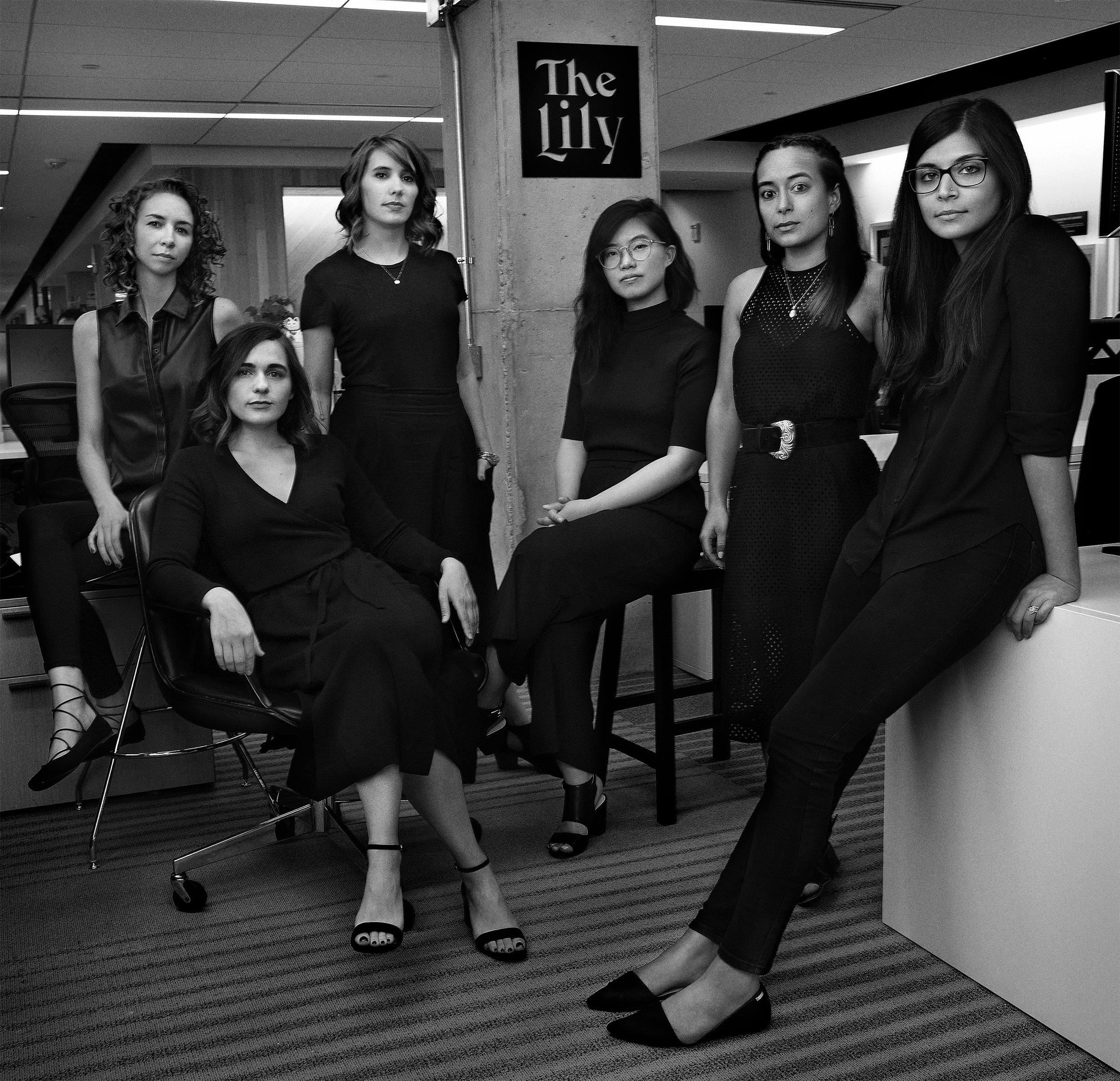 Left to right: Amy Cavenaile, Amy King, Rachel Orr, Carol Shih, Ashley Nguyen and Neema Roshania Patel. (Jesse Dittmar for The Lily)