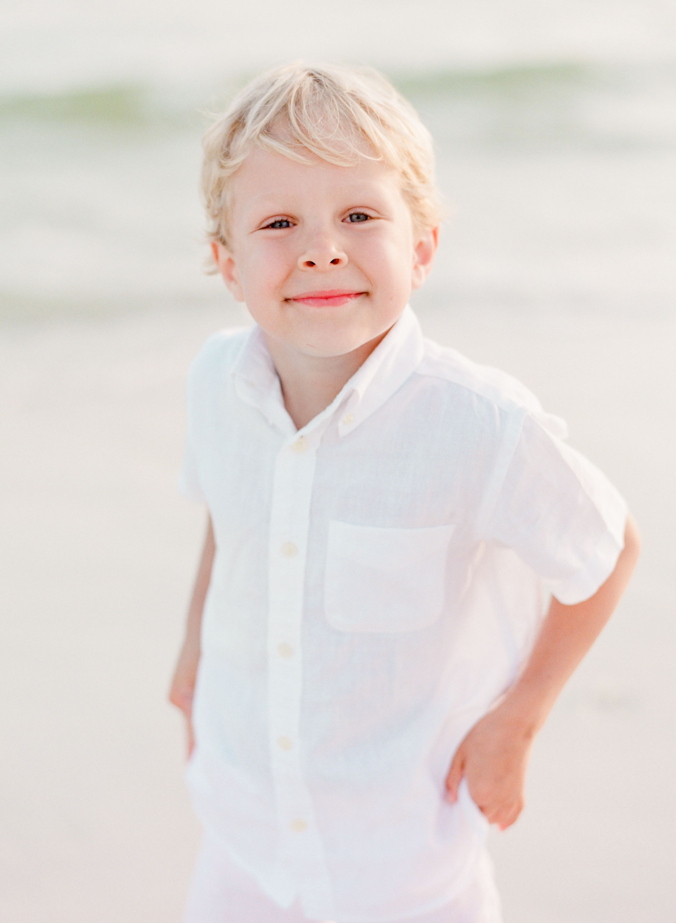 Little boy at the beach | Kaylie B. Poplin Photography | Watercolor, Florida family and wedding photographer