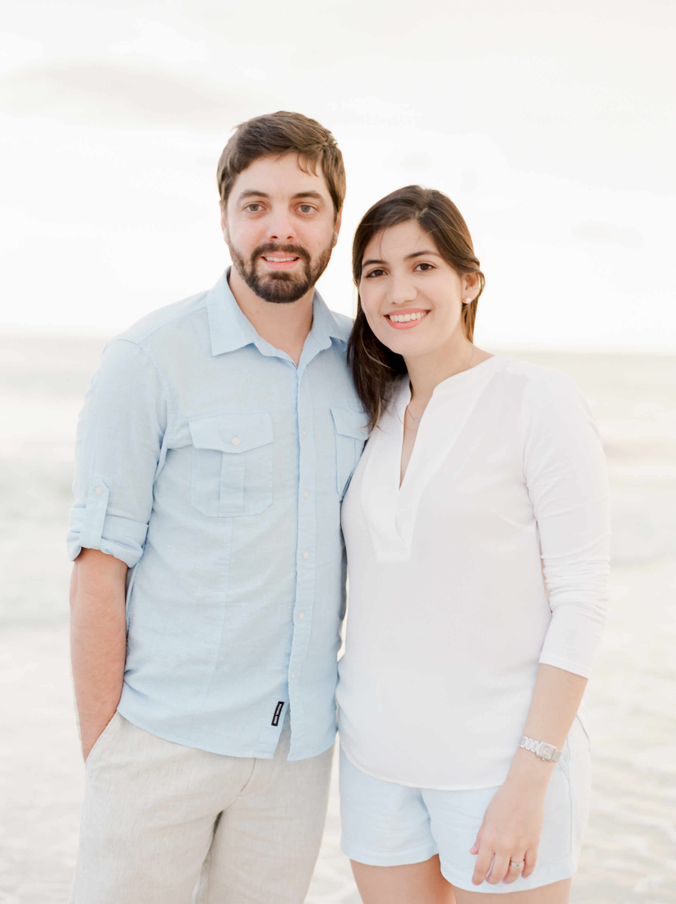 Neutral outfits for seaside engagement pictures | Kaylie B. Poplin Photography | Destin, Florida fine art photographer