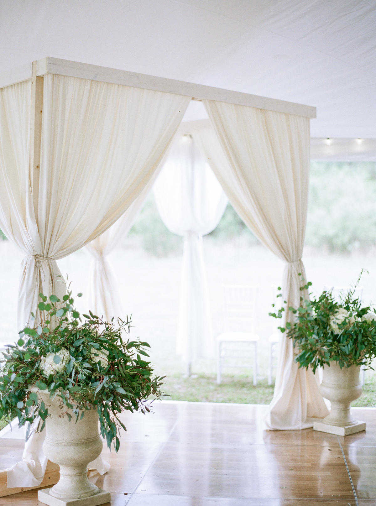 White Wedding Arbor| Fine Art Crestview Florida Wedding | Jennifer Blair Photography