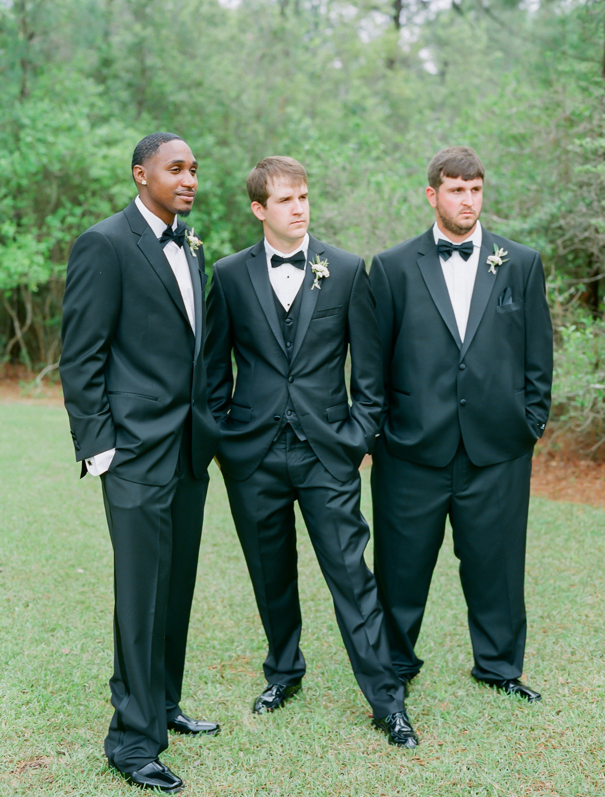 Groomsmen Bow Ties | Fine Art Crestview Florida Wedding | Jennifer Blair Photography