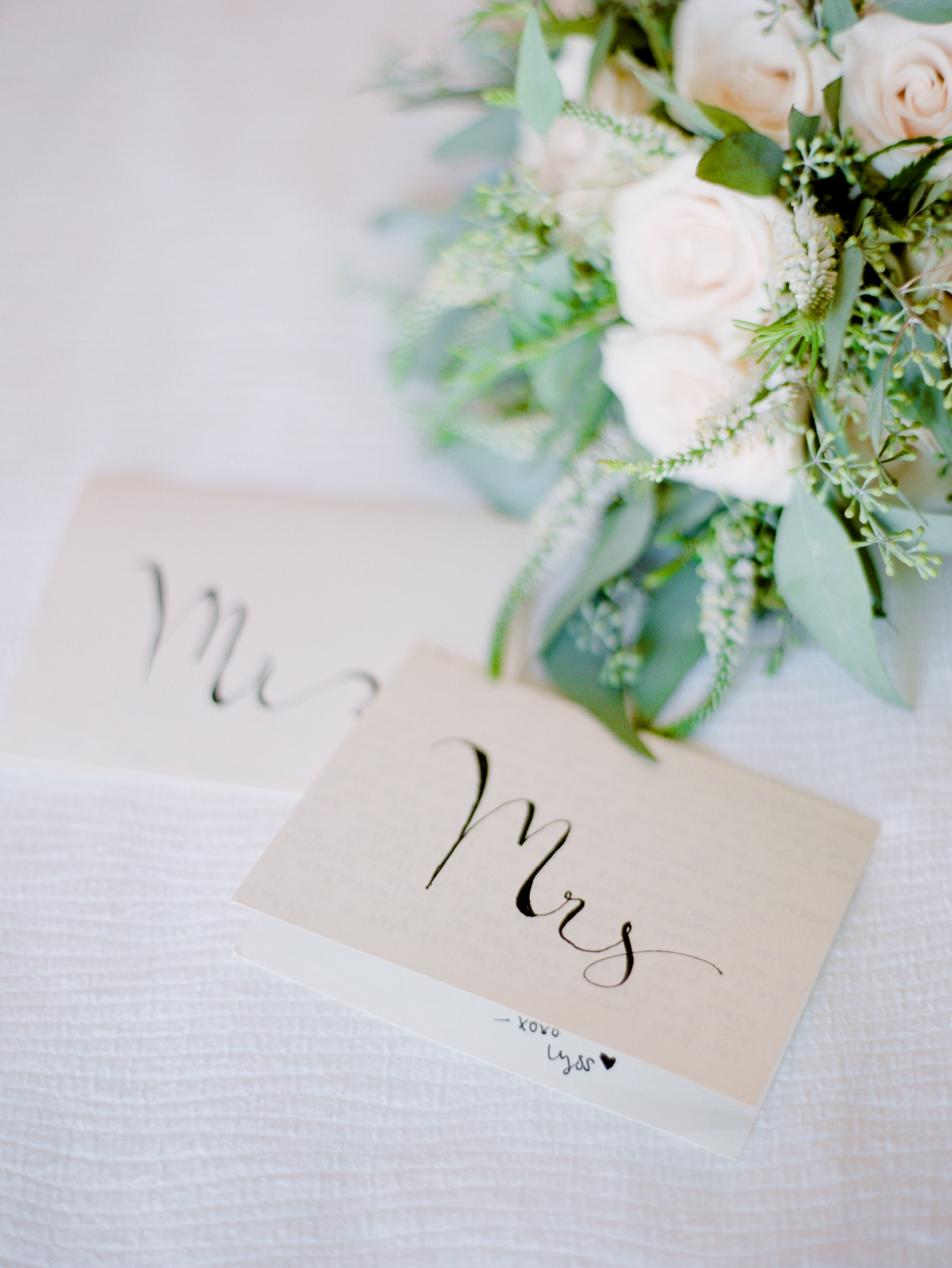 handwritten vows