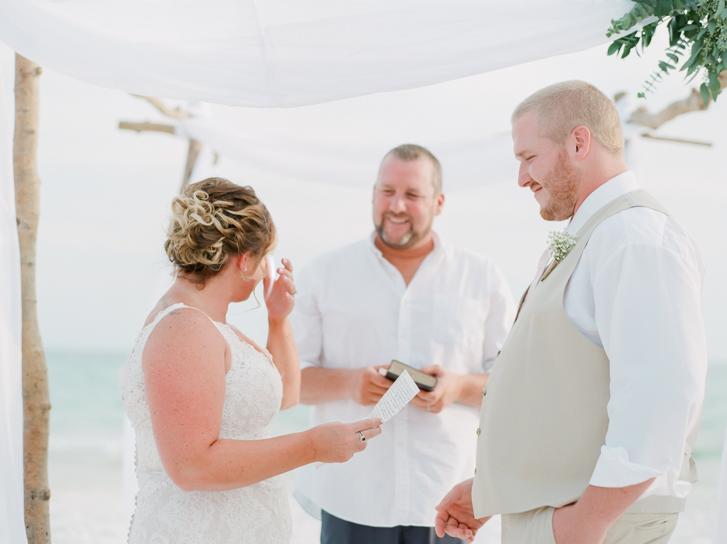 seaside wedding in florida kaylie b poplin photography