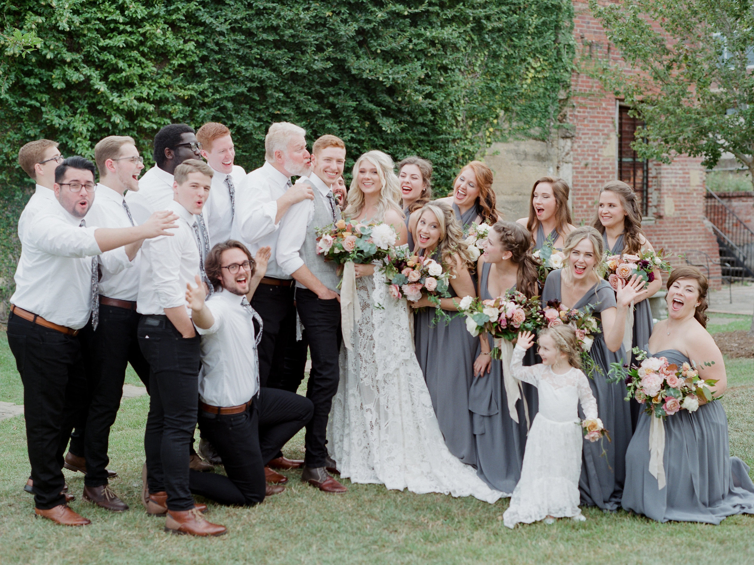 The Grand on Foster Wedding - Andrew + Lauren   The joy that was in A + L's Grand on Foster wedding was overwhelming! Gorgeous, flowing florals by The Petaler Co., a killer Bridal party and a night lit reception is only the beginning.