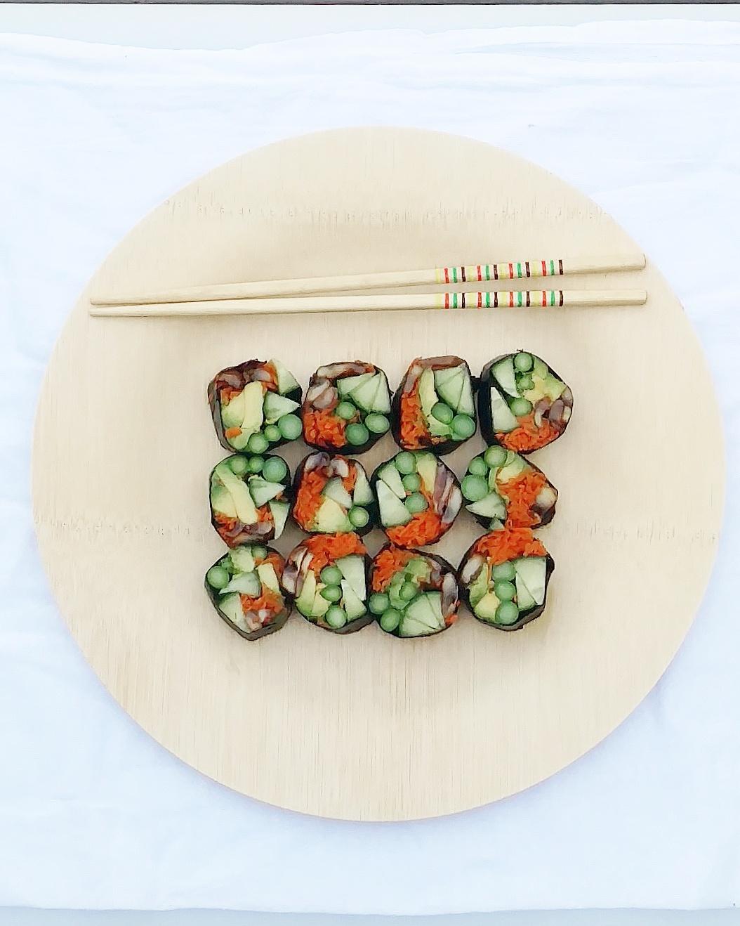 no rice vegan sushi