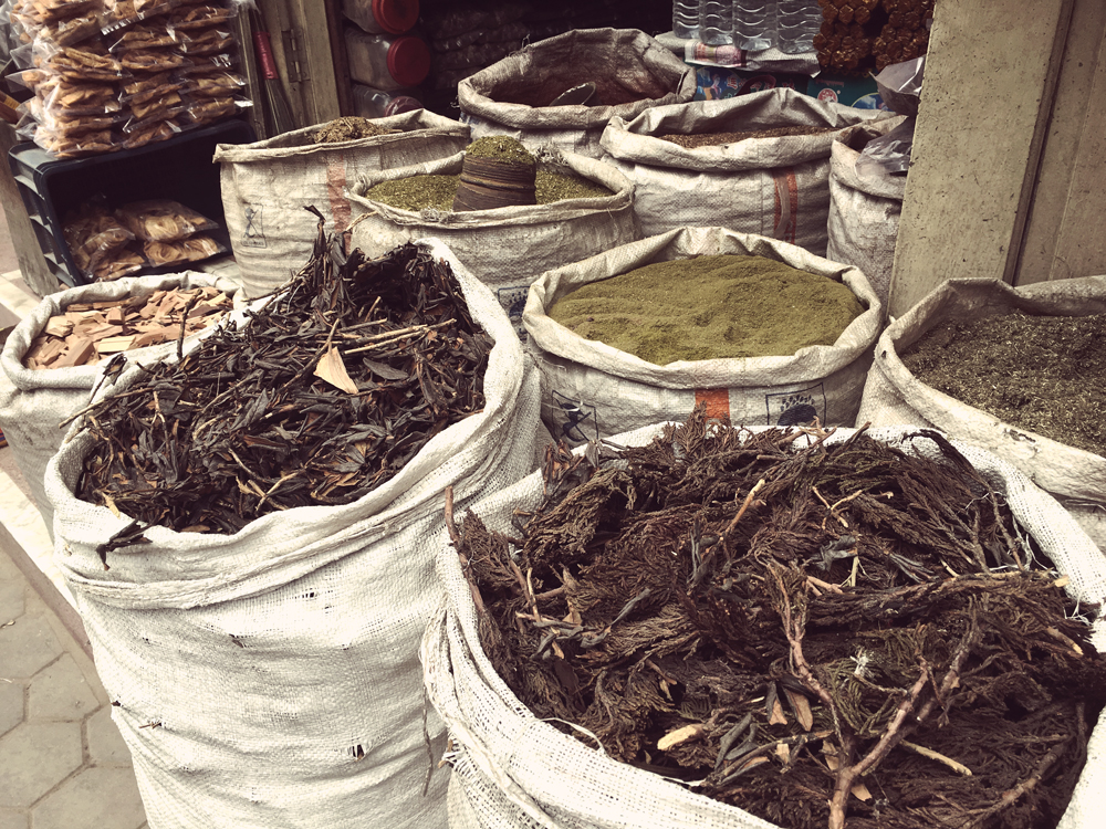 Spices for sale near Boudhanath