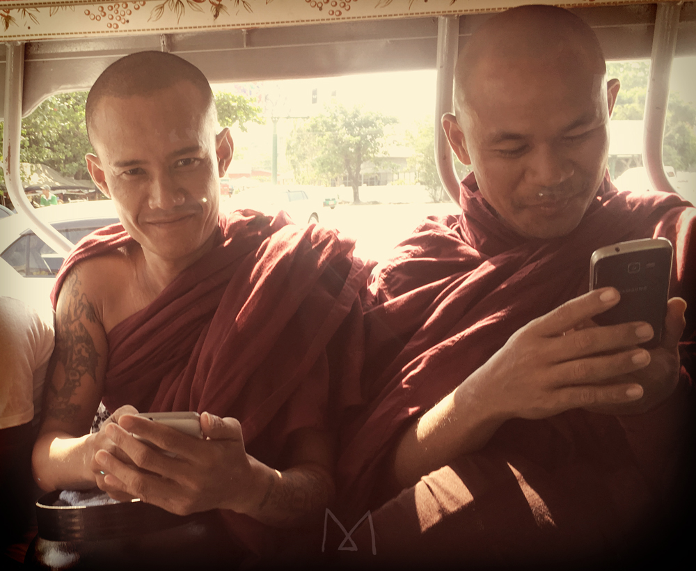 Some monks have smartphones