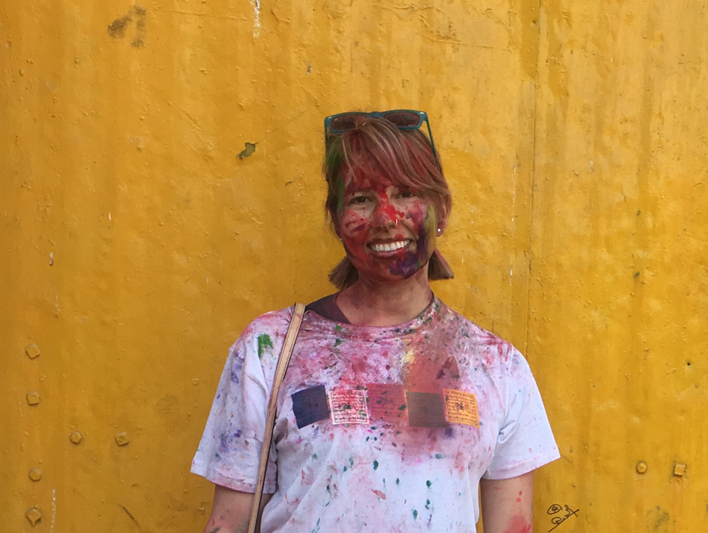 Holi is celebrated in Nepal and India in March